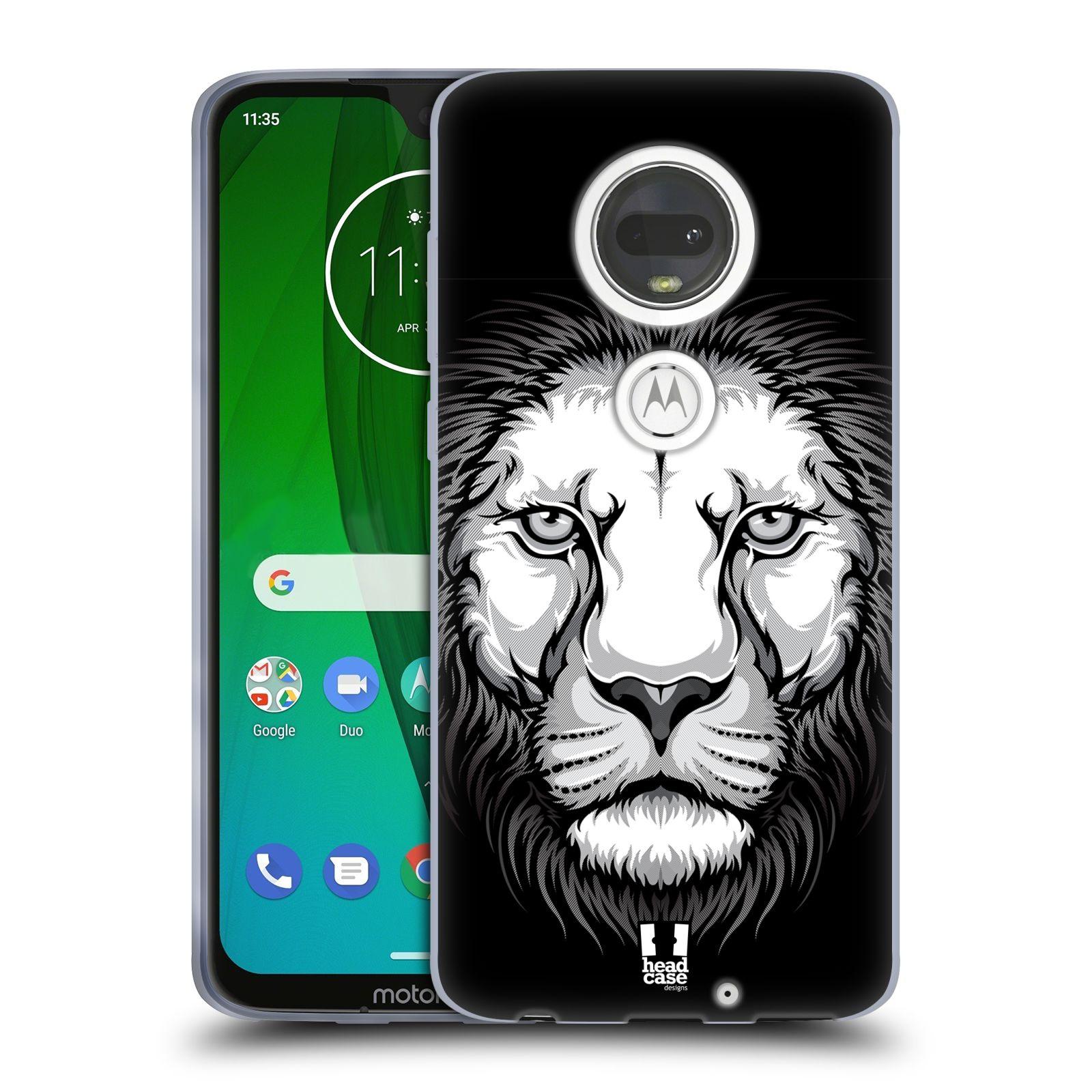 Silikonové pouzdro na mobil Motorola Moto G7 - Head Case - ILUSTROVANÝ LEV