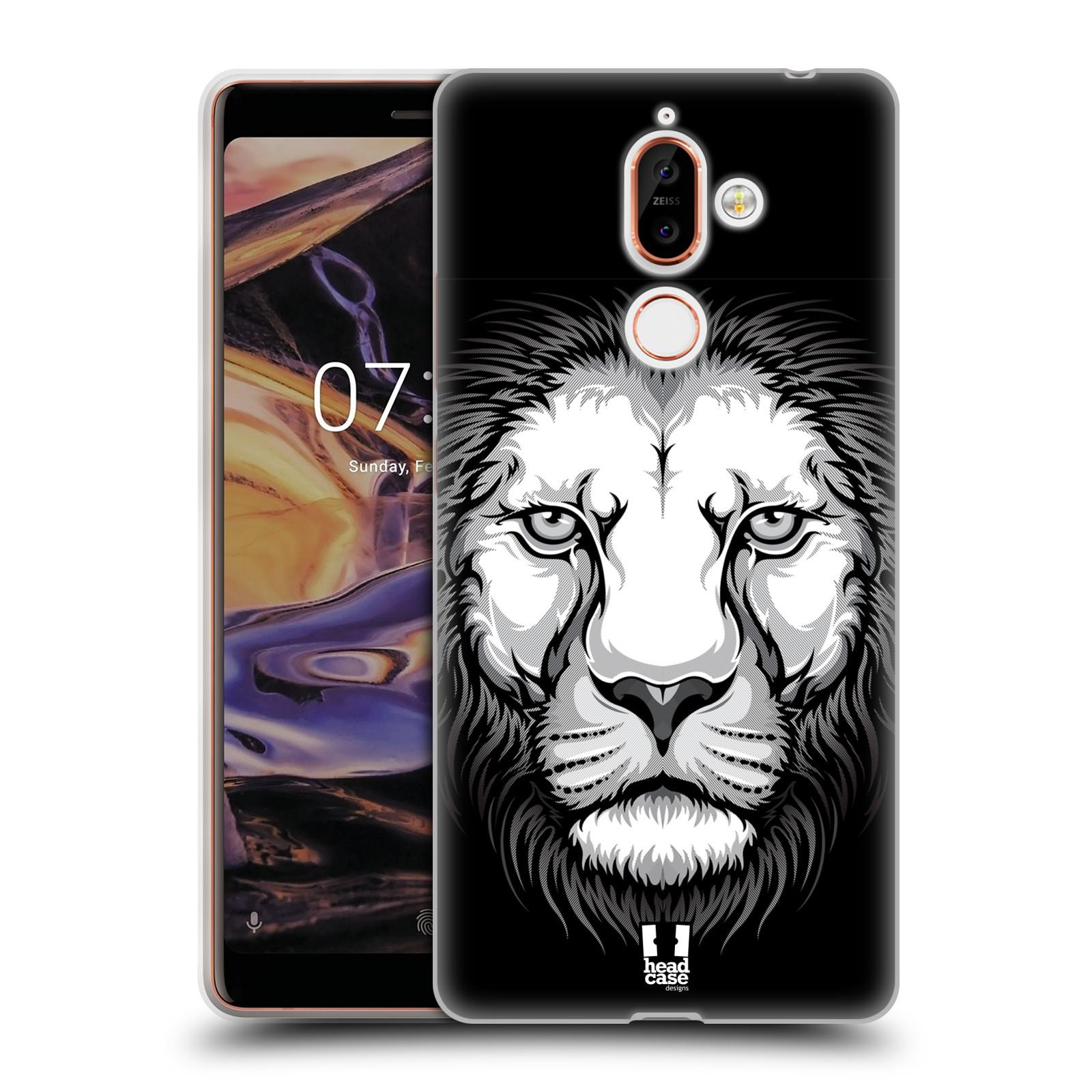 Silikonové pouzdro na mobil Nokia 7 Plus - Head Case - ILUSTROVANÝ LEV