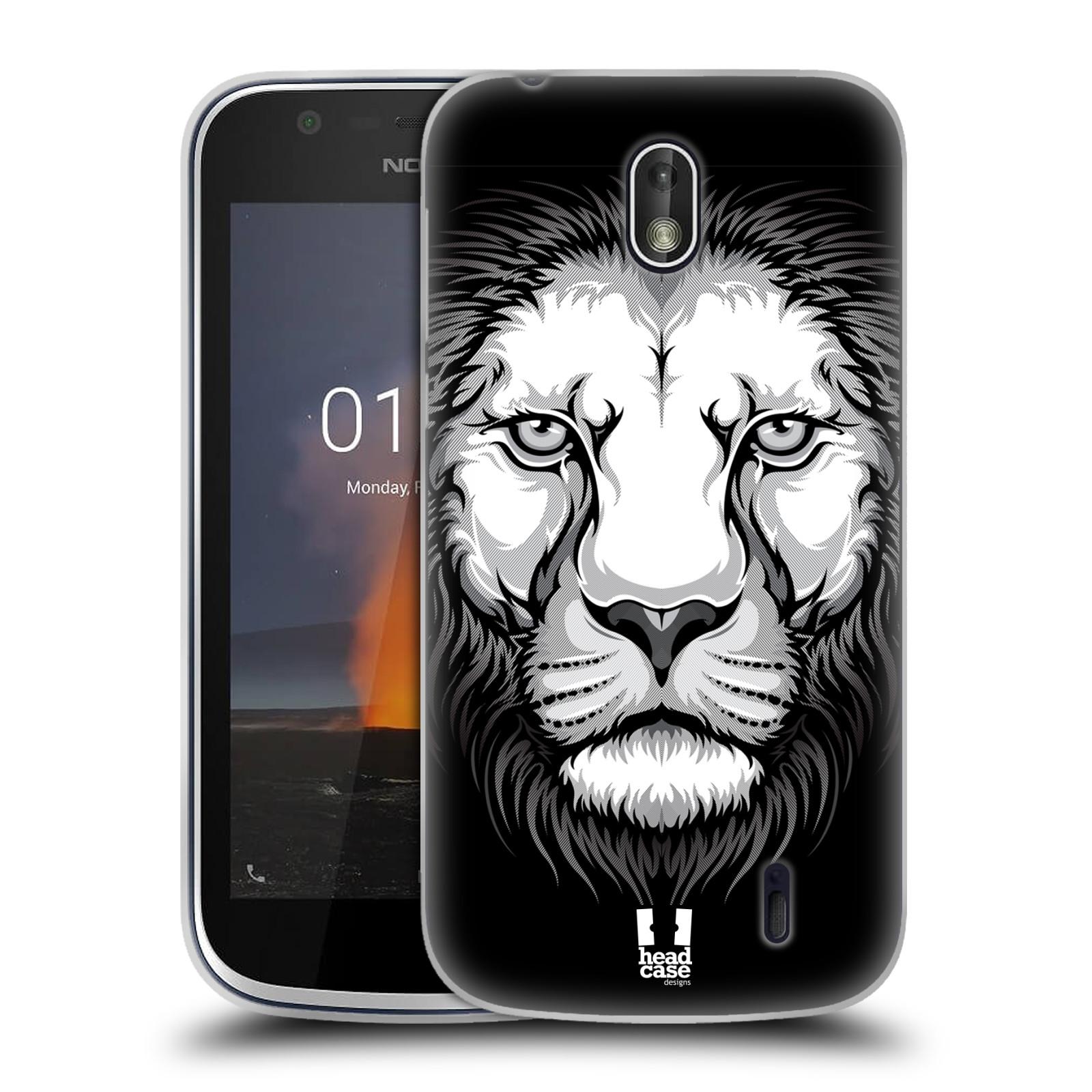 Silikonové pouzdro na mobil Nokia 1 - Head Case - ILUSTROVANÝ LEV