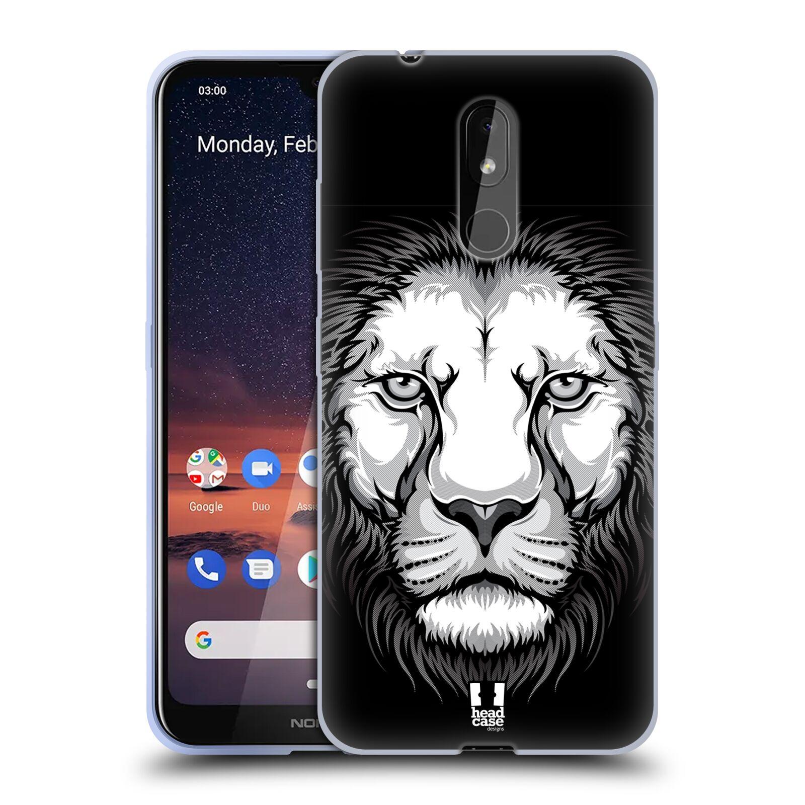 Silikonové pouzdro na mobil Nokia 3.2 - Head Case - ILUSTROVANÝ LEV