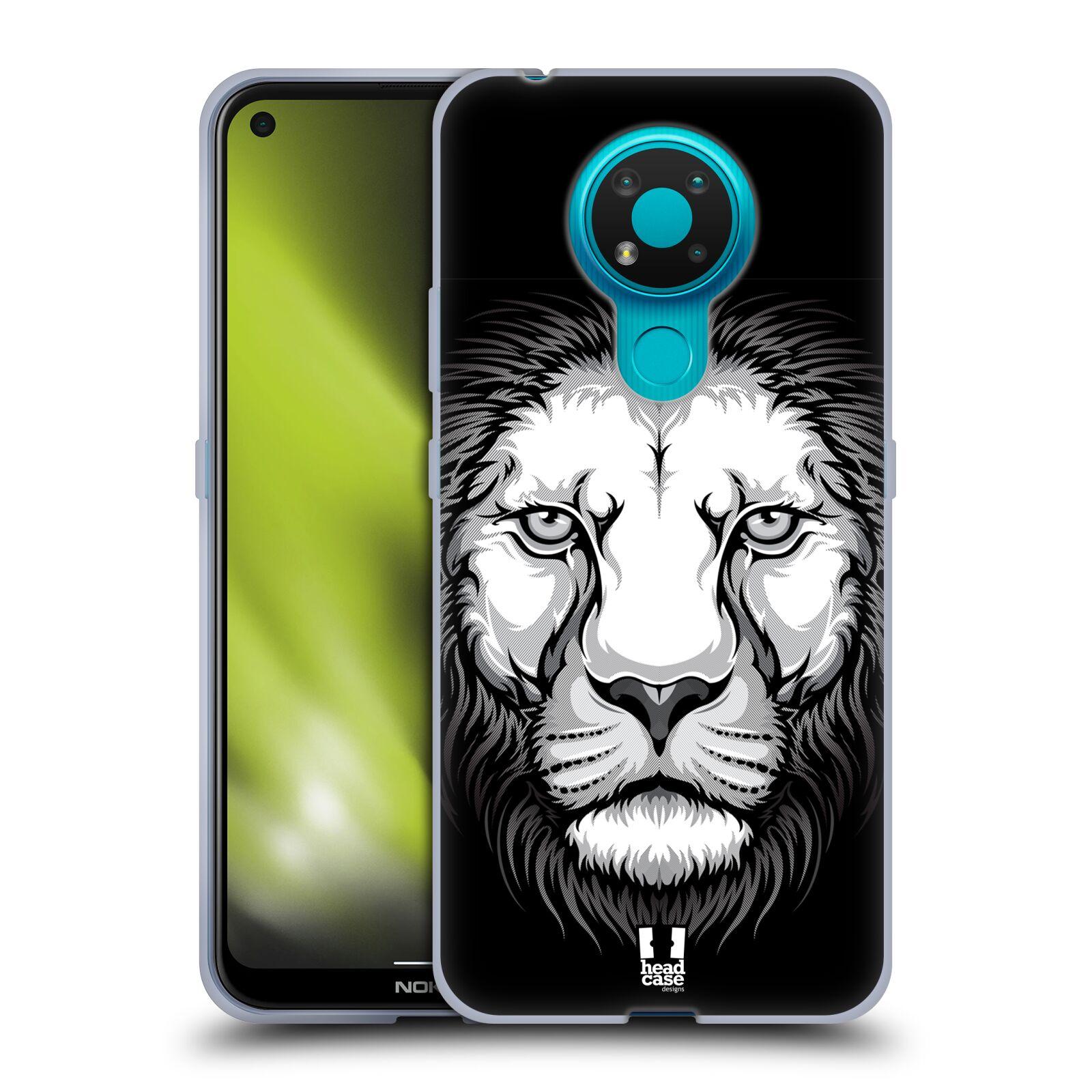 Silikonové pouzdro na mobil Nokia 3.4 - Head Case - ILUSTROVANÝ LEV