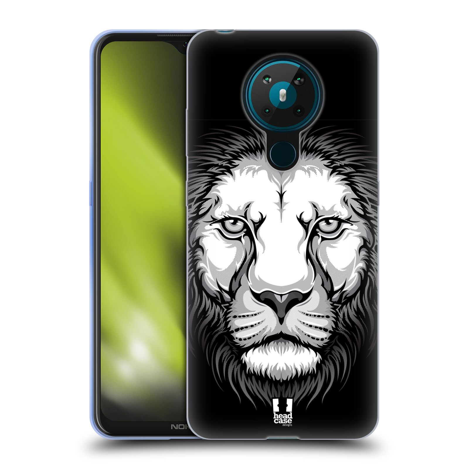 Silikonové pouzdro na mobil Nokia 5.3 - Head Case - ILUSTROVANÝ LEV