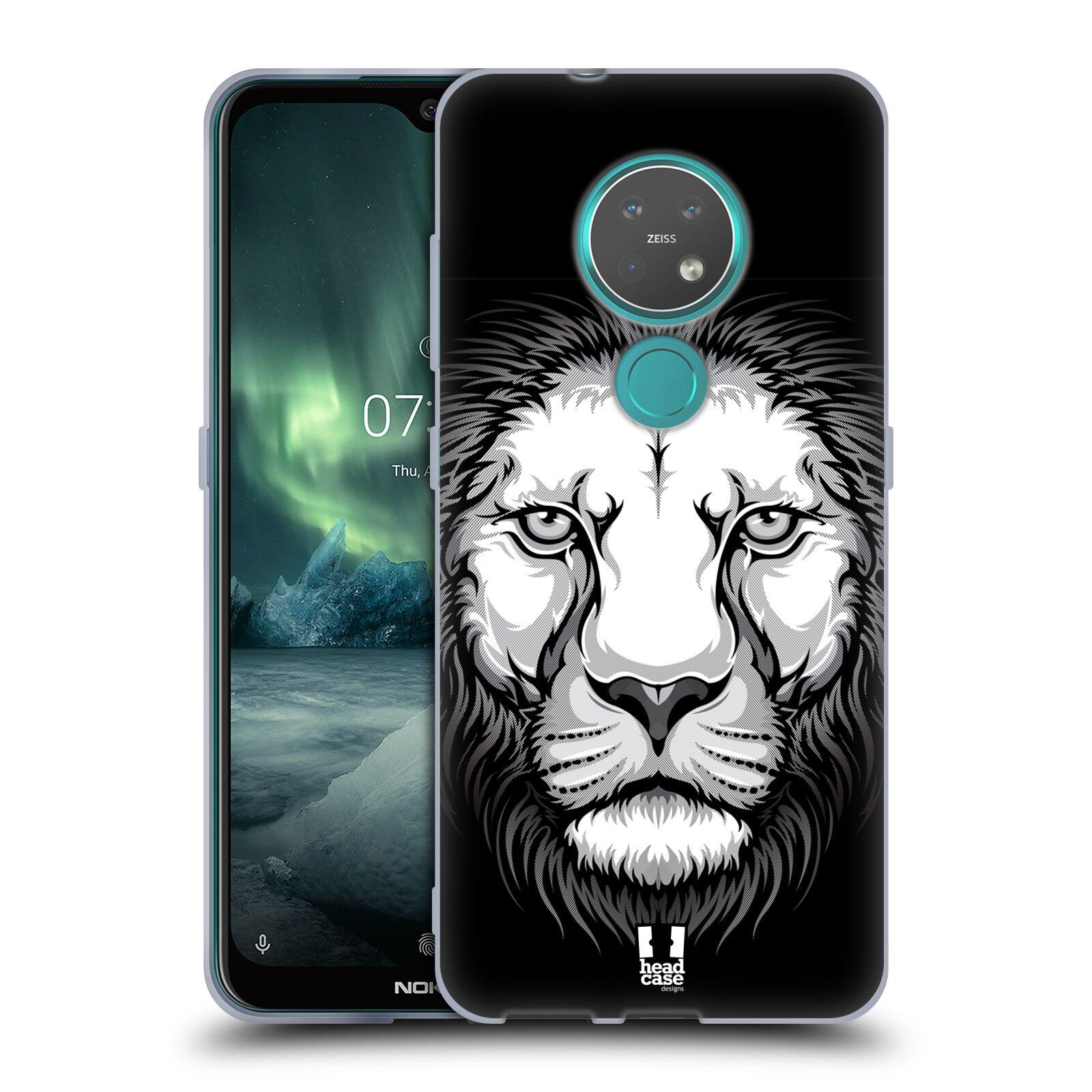 Silikonové pouzdro na mobil Nokia 6.2 - Head Case - ILUSTROVANÝ LEV