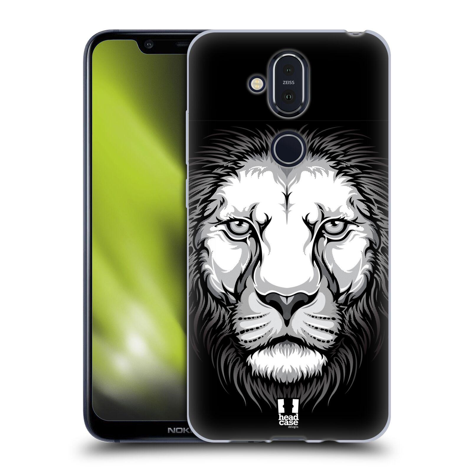 Silikonové pouzdro na mobil Nokia 8.1 - Head Case - ILUSTROVANÝ LEV