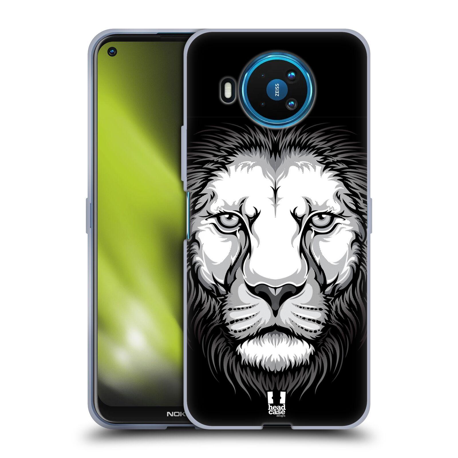 Silikonové pouzdro na mobil Nokia 8.3 5G - Head Case - ILUSTROVANÝ LEV
