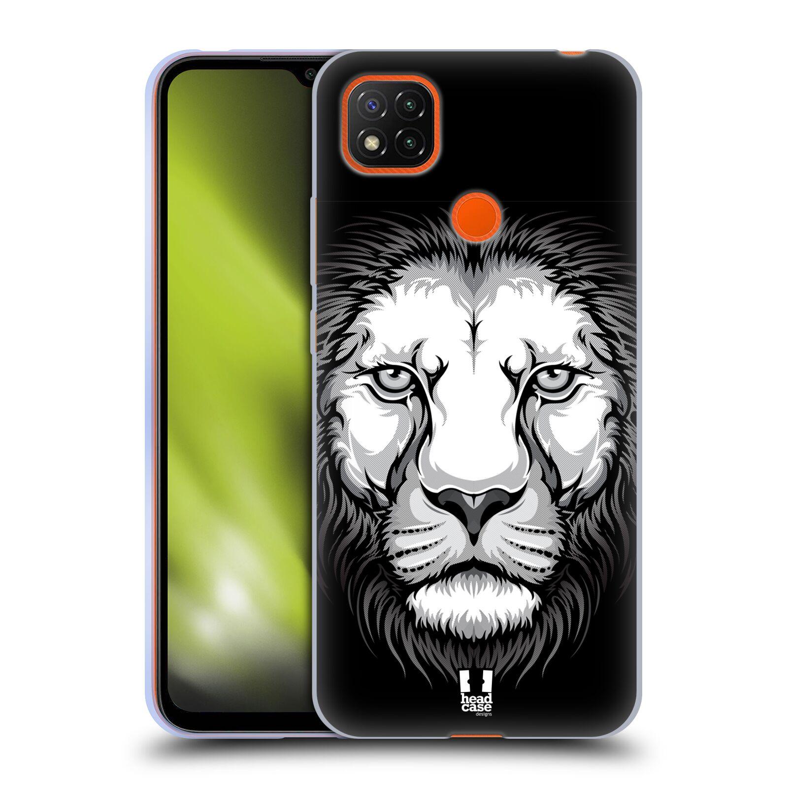 Silikonové pouzdro na mobil Xiaomi Redmi 9C - Head Case - ILUSTROVANÝ LEV