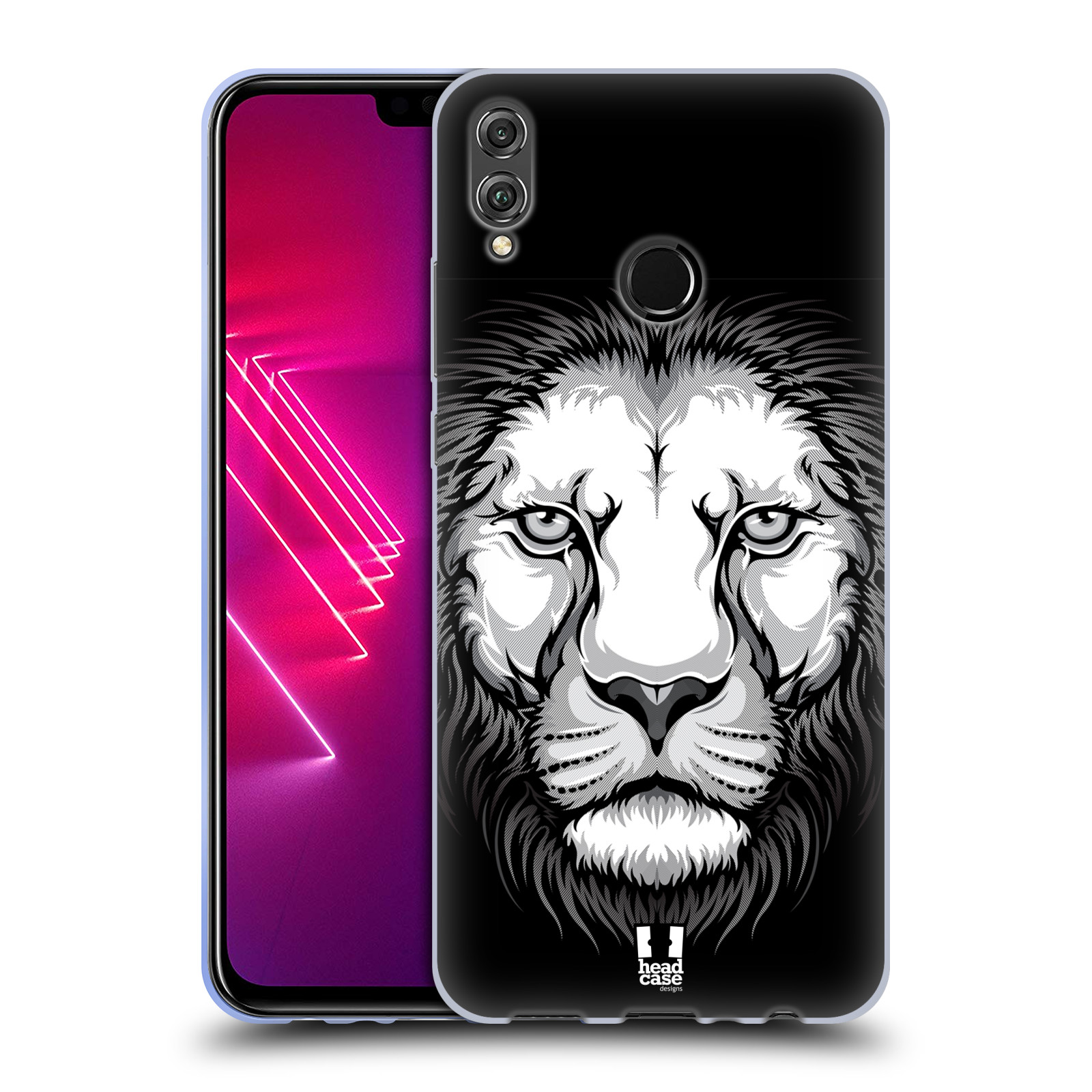 Silikonové pouzdro na mobil Honor View 10 Lite - Head Case - ILUSTROVANÝ LEV