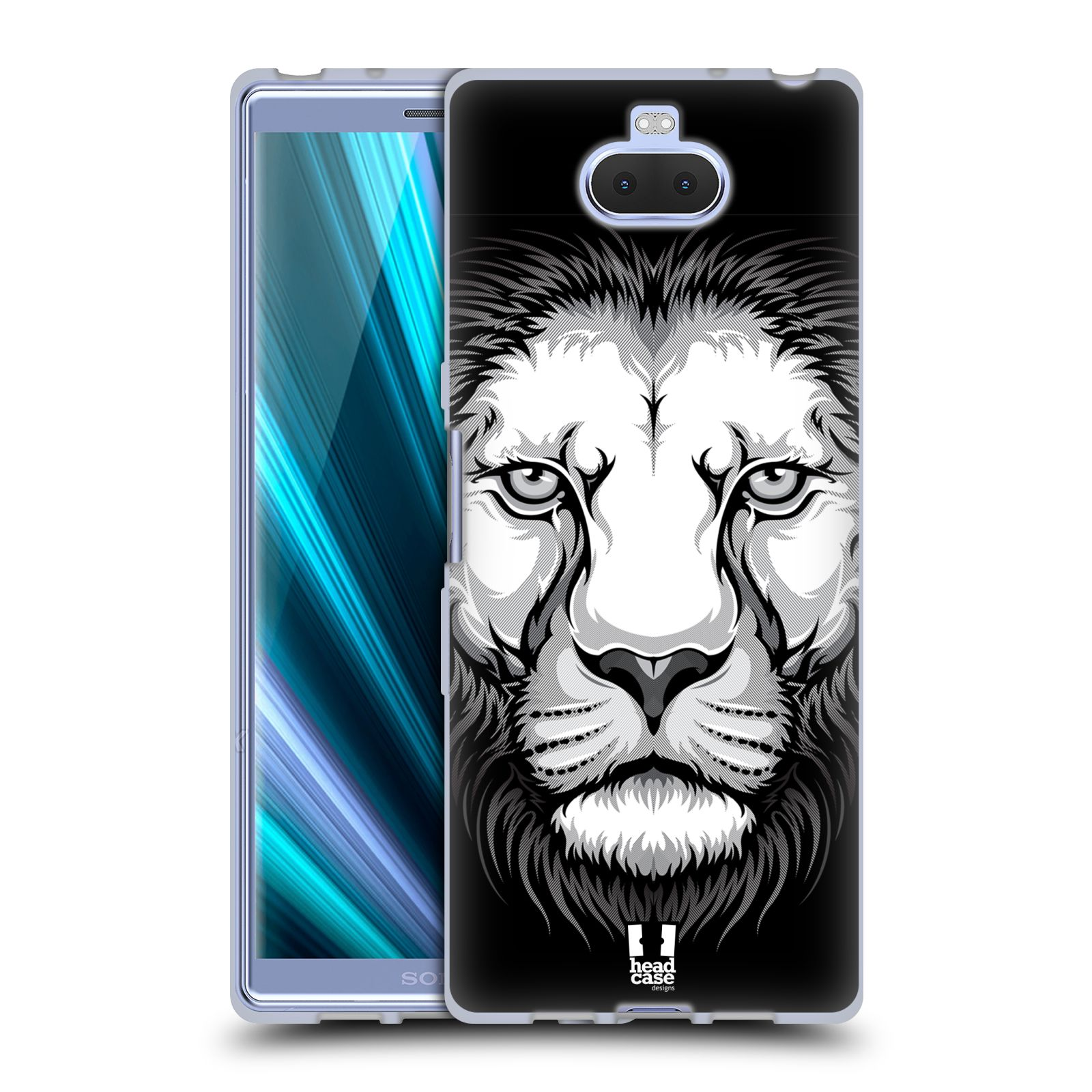 Silikonové pouzdro na mobil Sony Xperia 10 - Head Case - ILUSTROVANÝ LEV