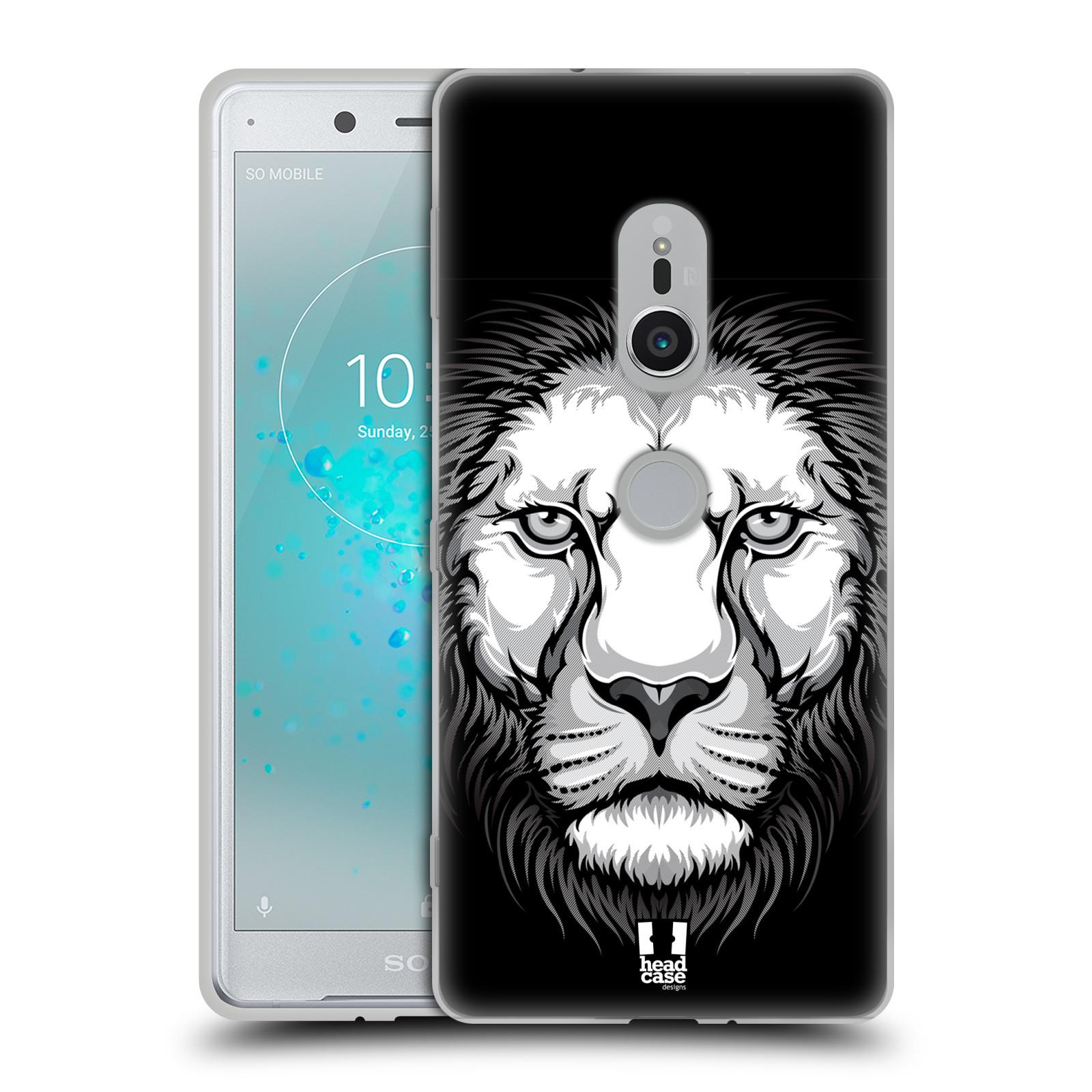 Silikonové pouzdro na mobil Sony Xperia XZ2 - Head Case - ILUSTROVANÝ LEV
