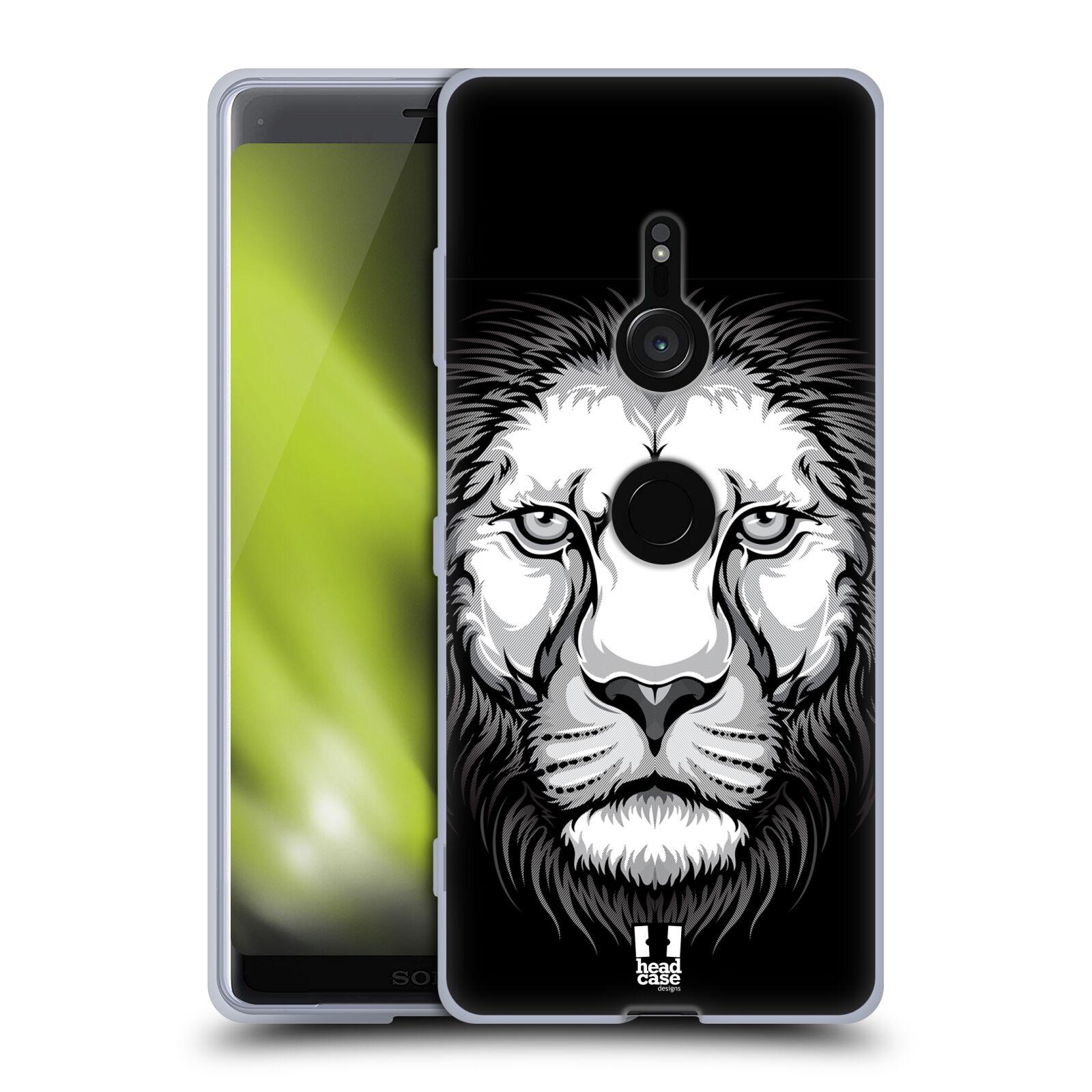 Silikonové pouzdro na mobil Sony Xperia XZ3 - Head Case - ILUSTROVANÝ LEV