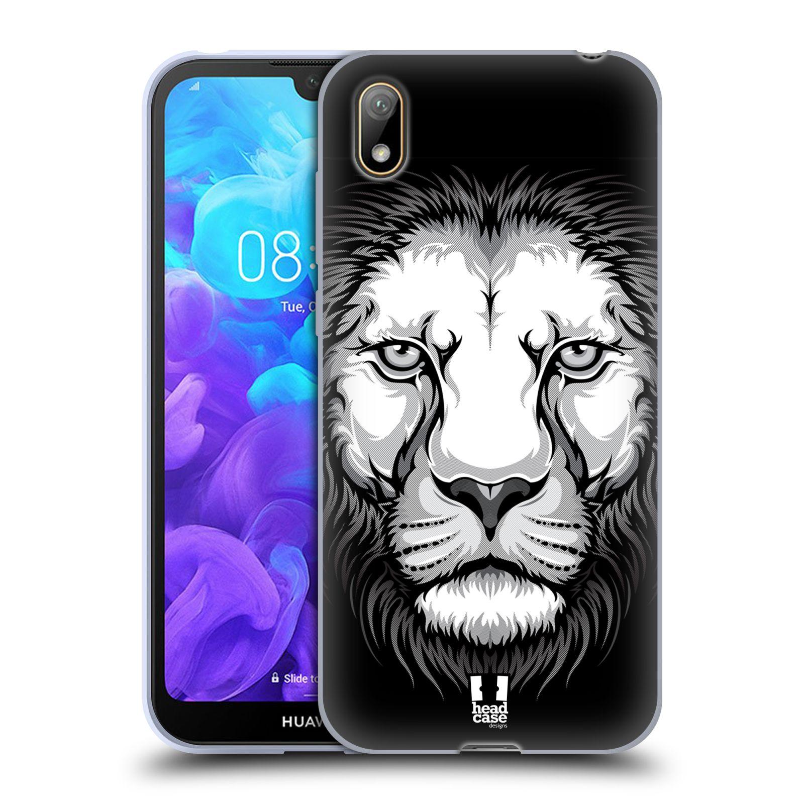 Silikonové pouzdro na mobil Huawei Y5 (2019) - Head Case - ILUSTROVANÝ LEV