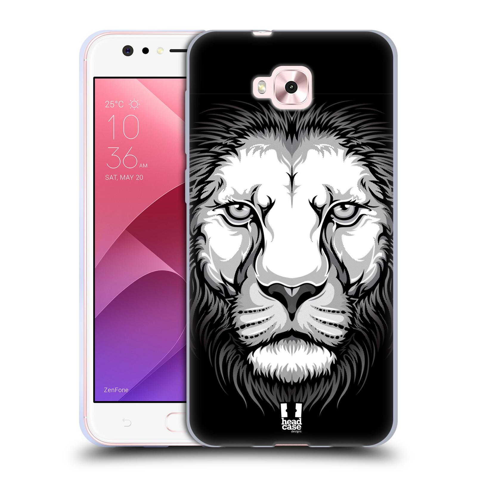 Silikonové pouzdro na mobil Asus Zenfone 4 Selfie ZD553KL - Head Case - ILUSTROVANÝ LEV