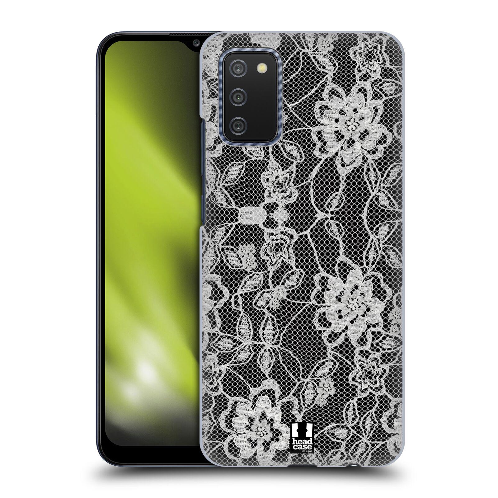 Plastové pouzdro na mobil Samsung Galaxy A02s - Head Case - FLOWERY KRAJKA