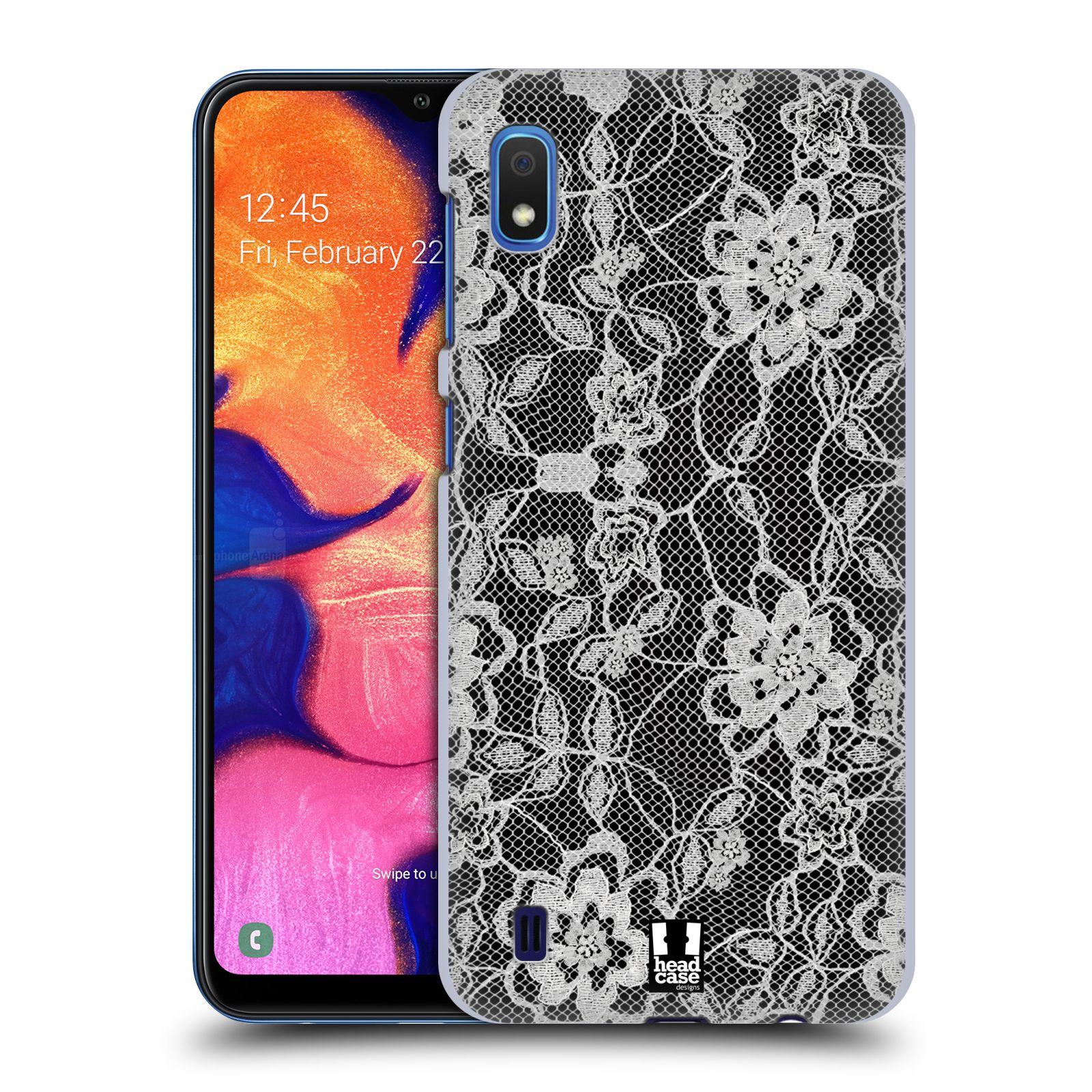 Plastové pouzdro na mobil Samsung Galaxy A10 - Head Case - FLOWERY KRAJKA