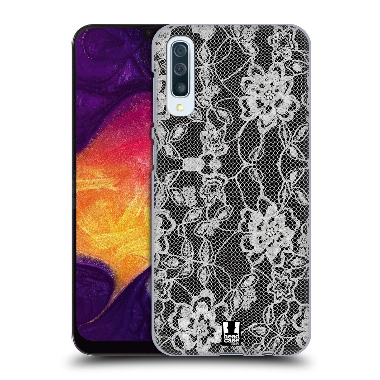 Plastové pouzdro na mobil Samsung Galaxy A50 - Head Case - FLOWERY KRAJKA