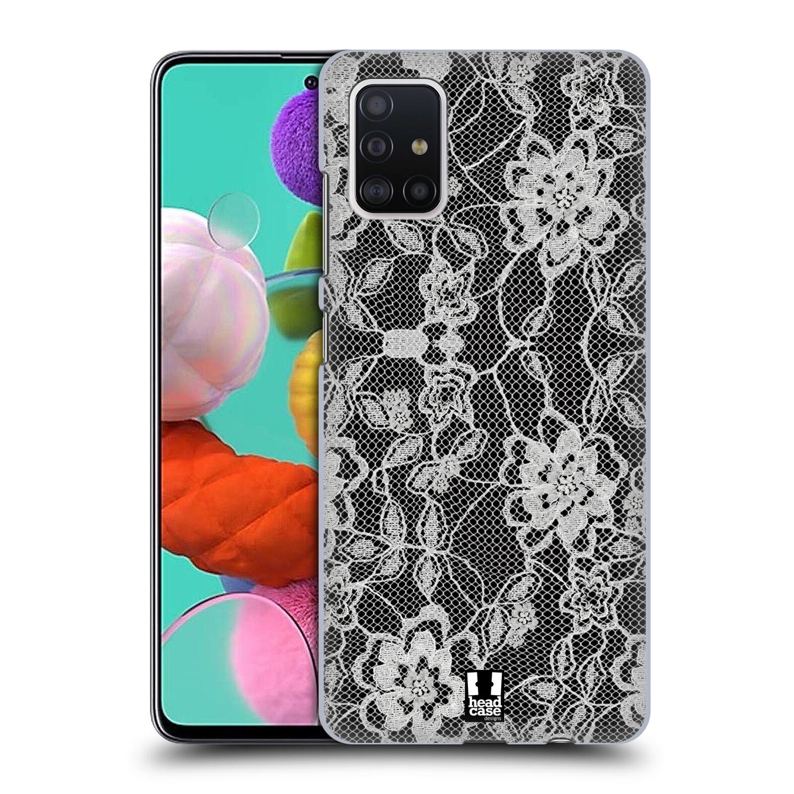 Plastové pouzdro na mobil Samsung Galaxy A51 - Head Case - FLOWERY KRAJKA