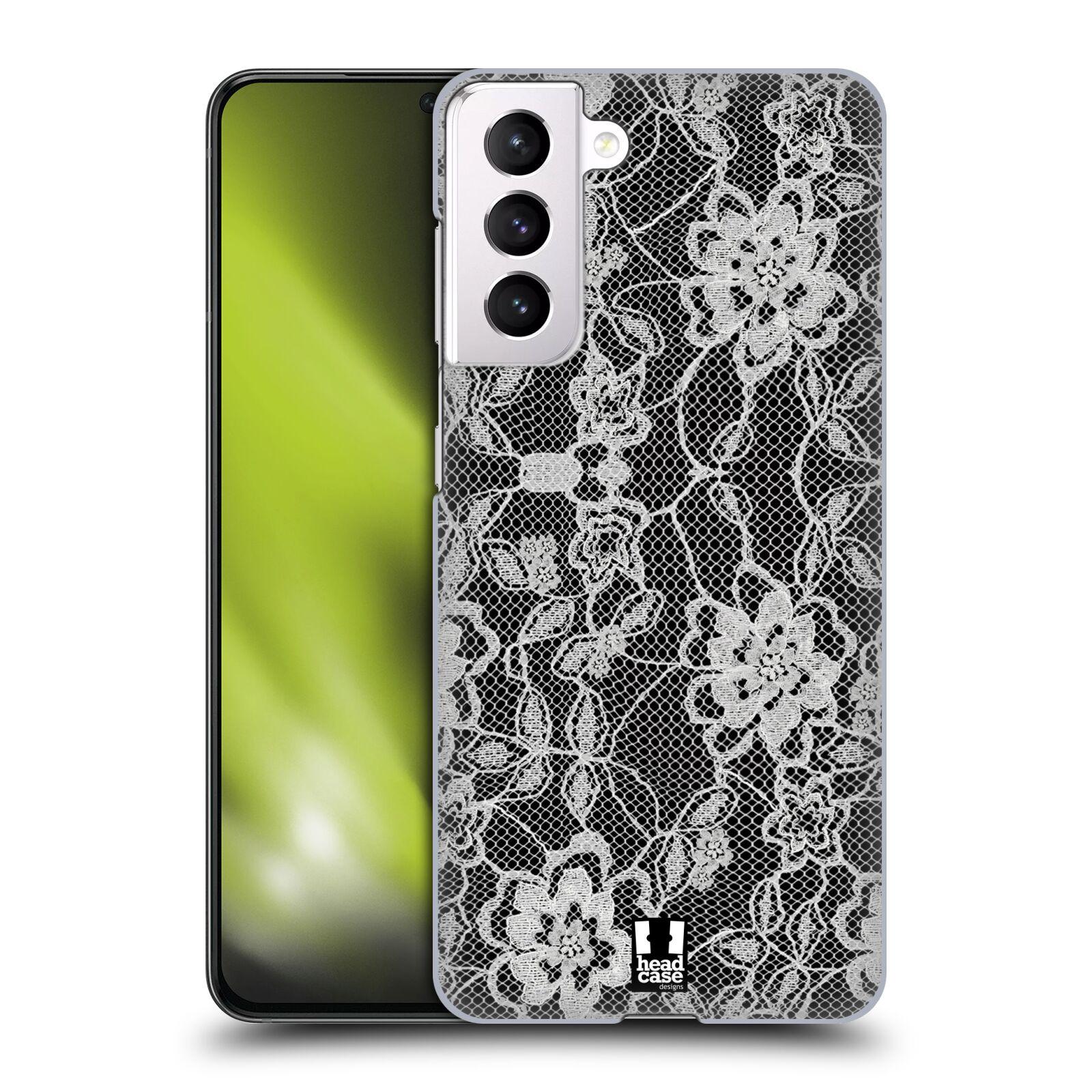 Plastové pouzdro na mobil Samsung Galaxy S21 5G - Head Case - FLOWERY KRAJKA