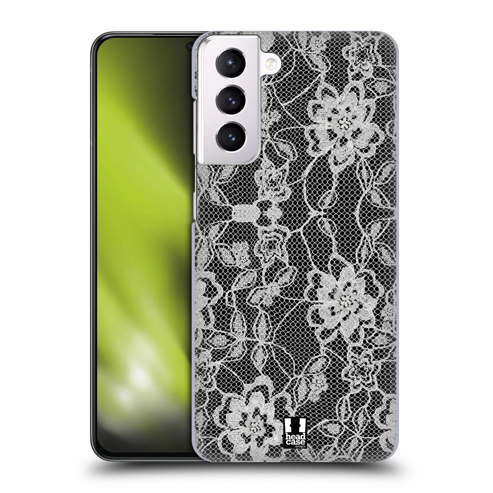 Plastové pouzdro na mobil Samsung Galaxy S21 Plus 5G - Head Case - FLOWERY KRAJKA