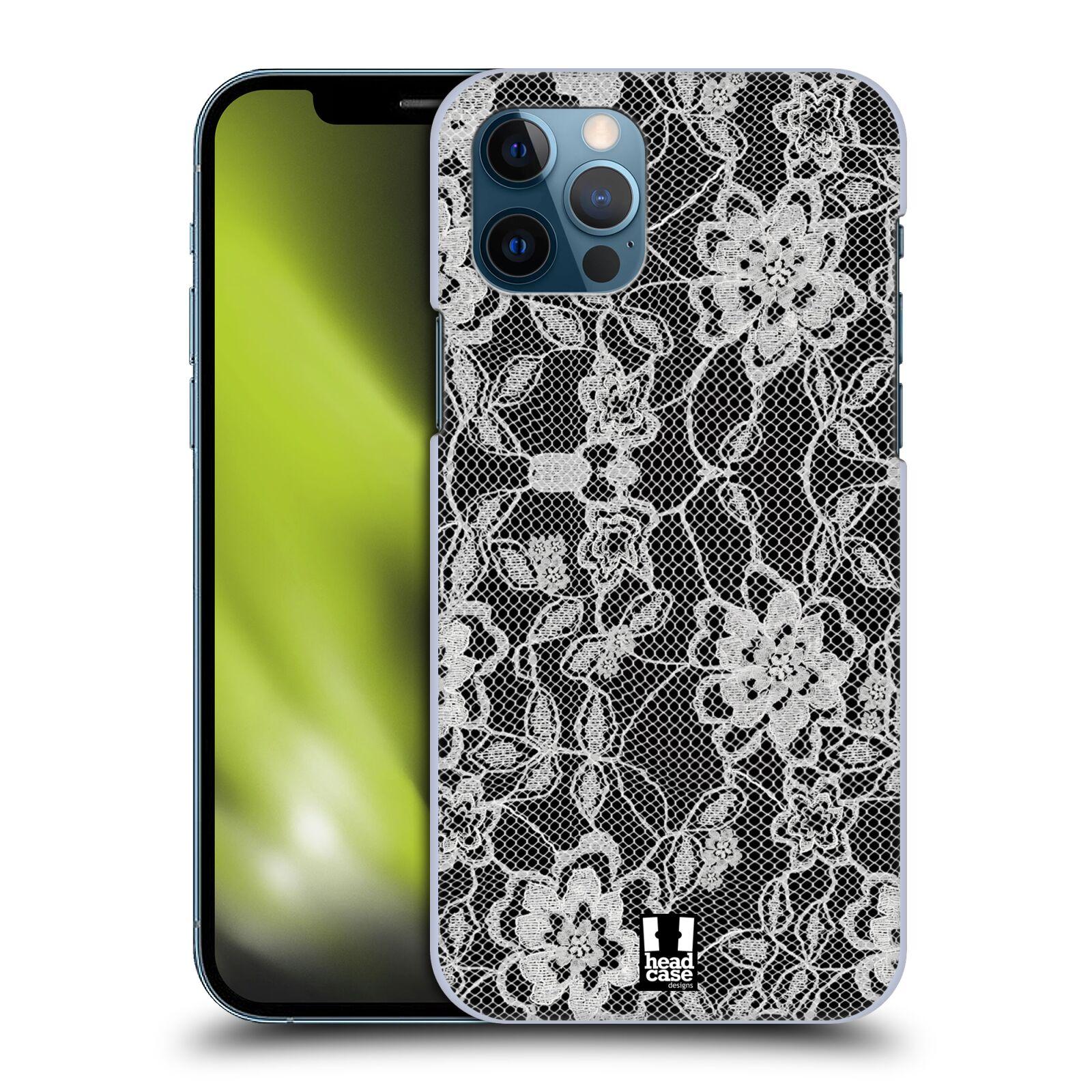 Plastové pouzdro na mobil Apple iPhone 12 / 12 Pro - Head Case - FLOWERY KRAJKA