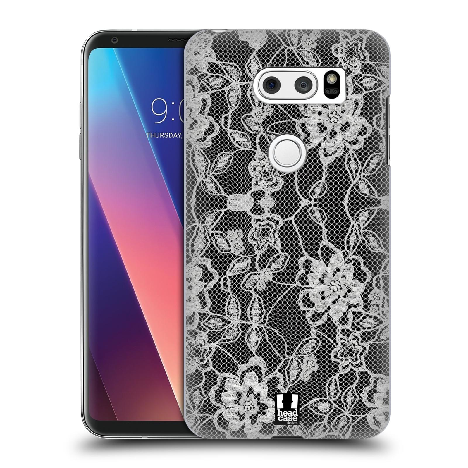 Plastové pouzdro na mobil LG V30 - Head Case - FLOWERY KRAJKA
