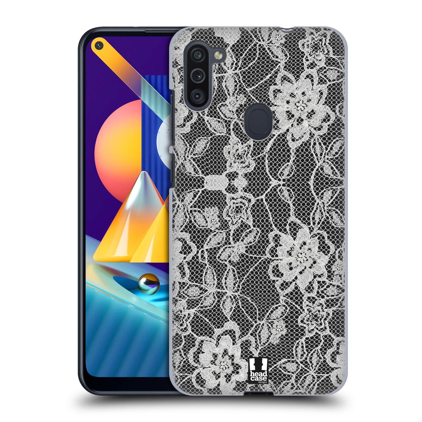 Plastové pouzdro na mobil Samsung Galaxy M11 - Head Case - FLOWERY KRAJKA