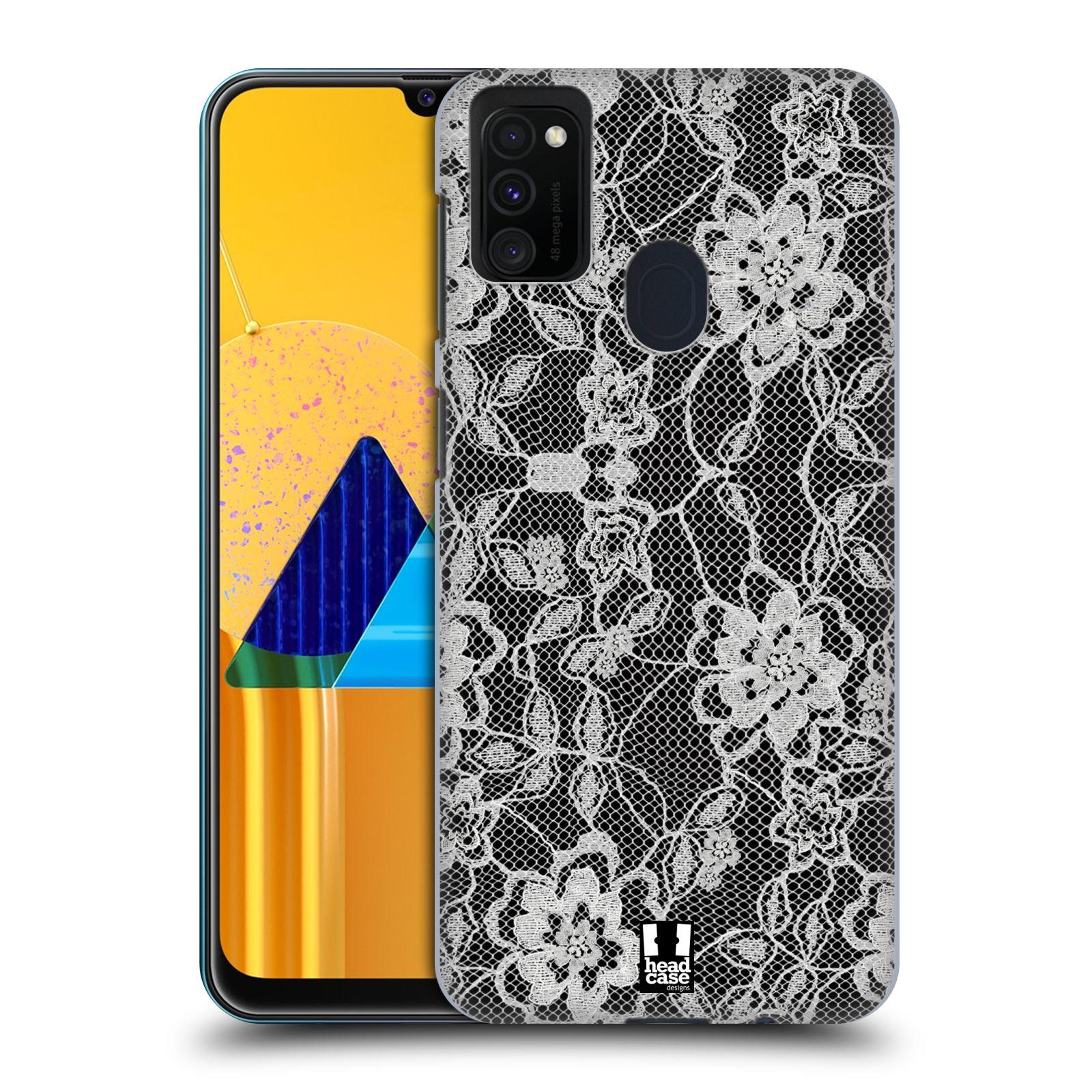 Plastové pouzdro na mobil Samsung Galaxy M21 - Head Case - FLOWERY KRAJKA