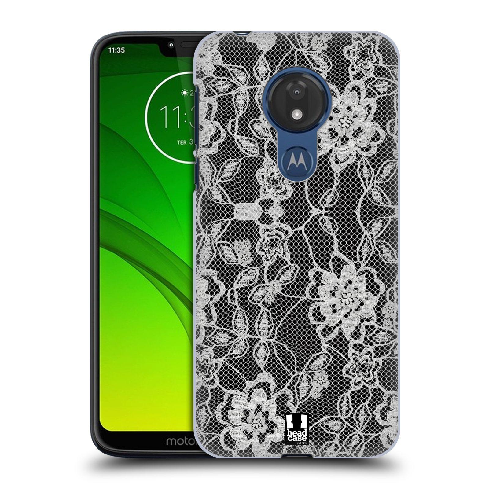 Plastové pouzdro na mobil Motorola Moto G7 Power - Head Case - FLOWERY KRAJKA