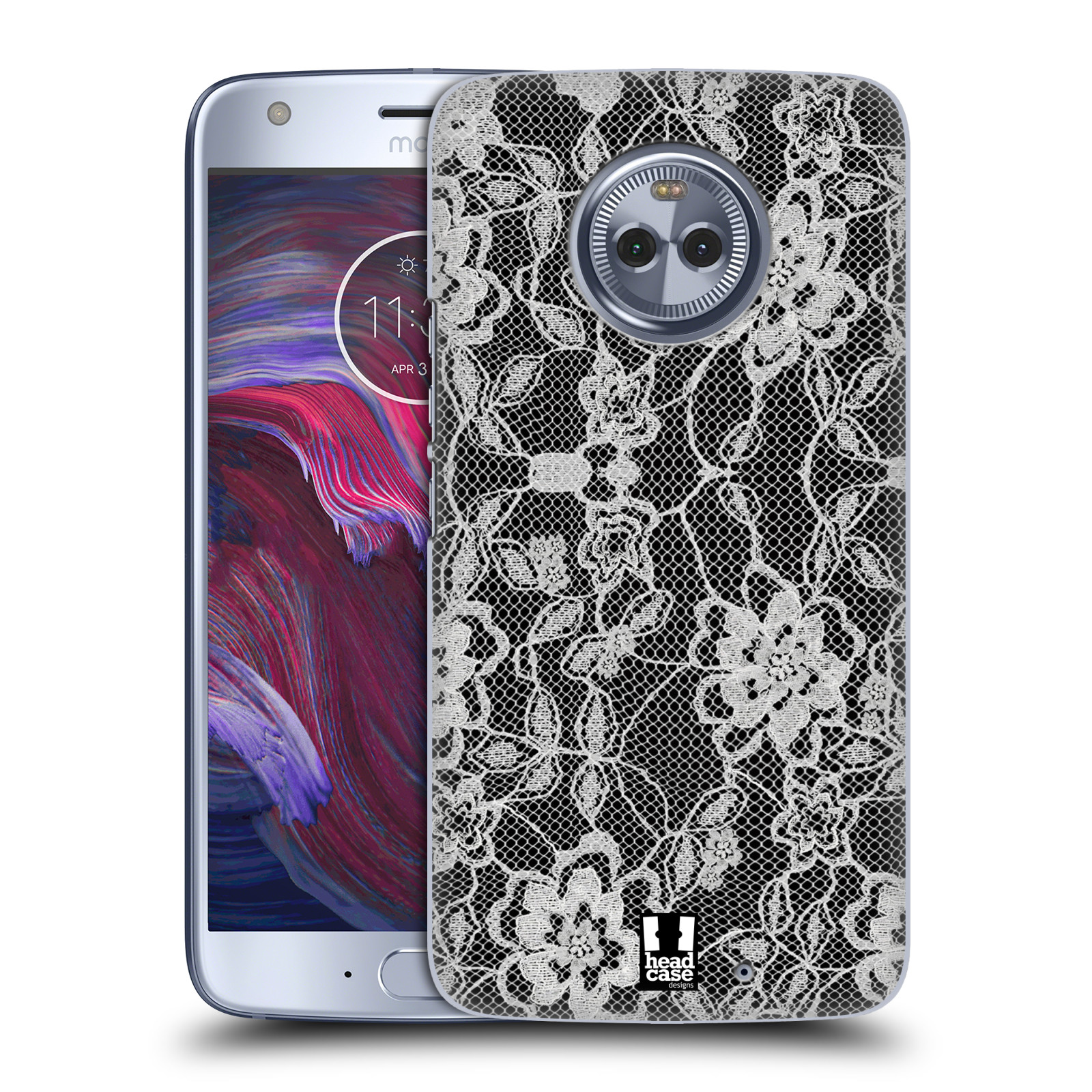 Plastové pouzdro na mobil Lenovo Moto X4 - Head Case - FLOWERY KRAJKA