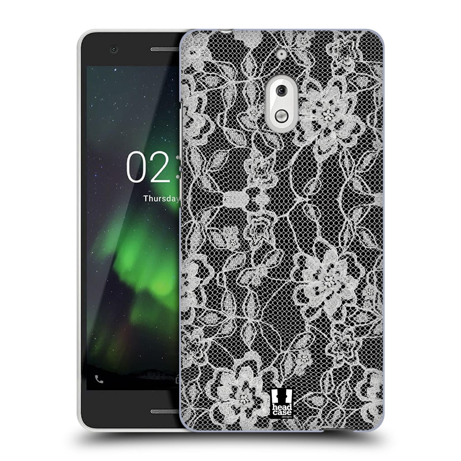 Plastové pouzdro na mobil Nokia 2.1 - Head Case - FLOWERY KRAJKA