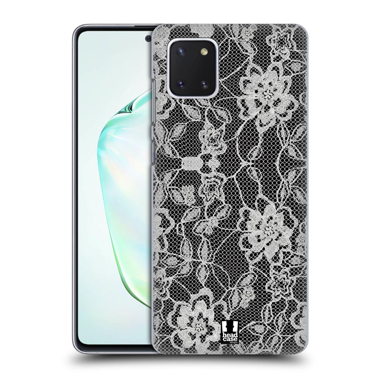 Plastové pouzdro na mobil Samsung Galaxy Note 10 Lite - Head Case - FLOWERY KRAJKA
