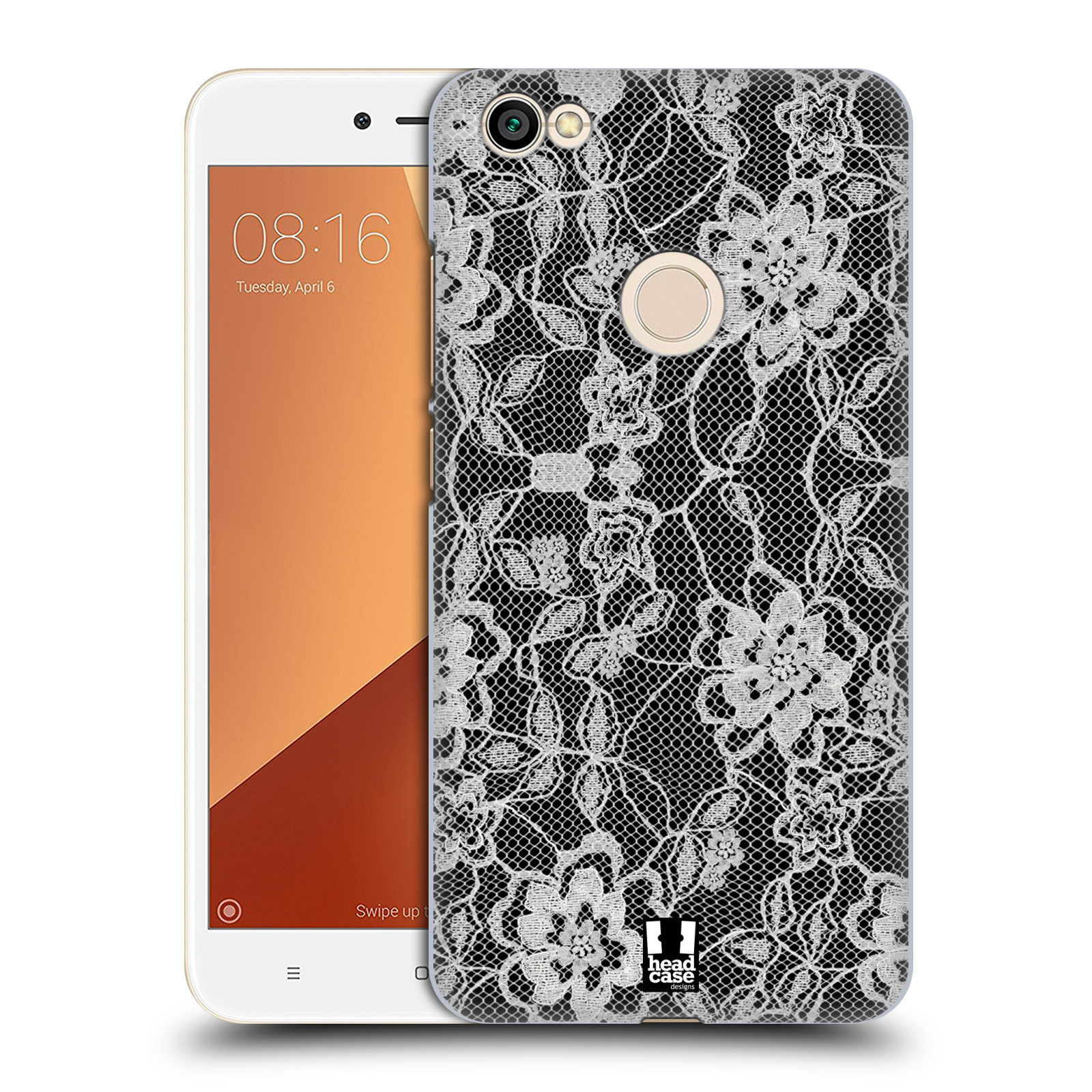 Plastové pouzdro na mobil Xiaomi Redmi Note 5A Prime - Head Case - FLOWERY KRAJKA