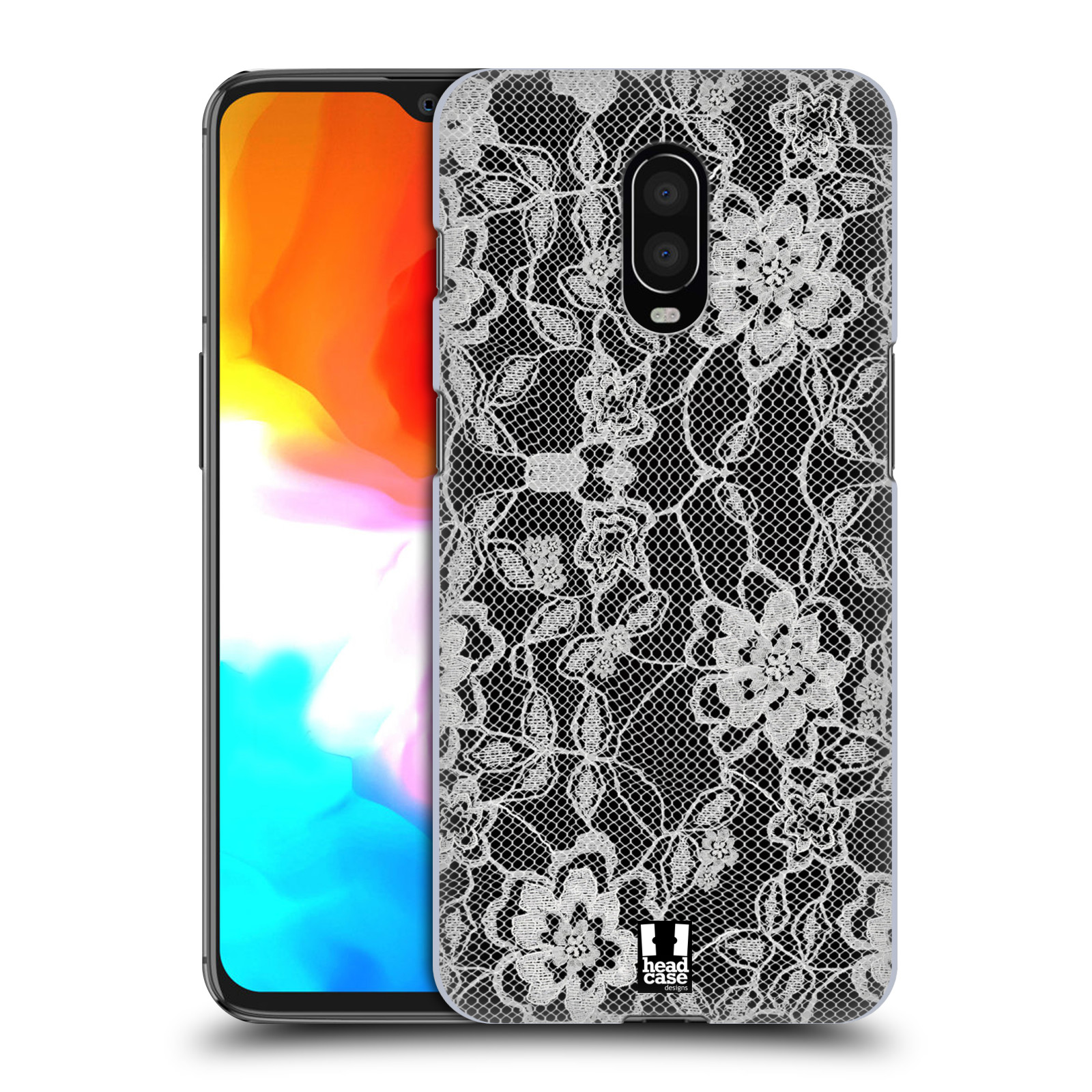 Plastové pouzdro na mobil OnePlus 6T - Head Case - FLOWERY KRAJKA