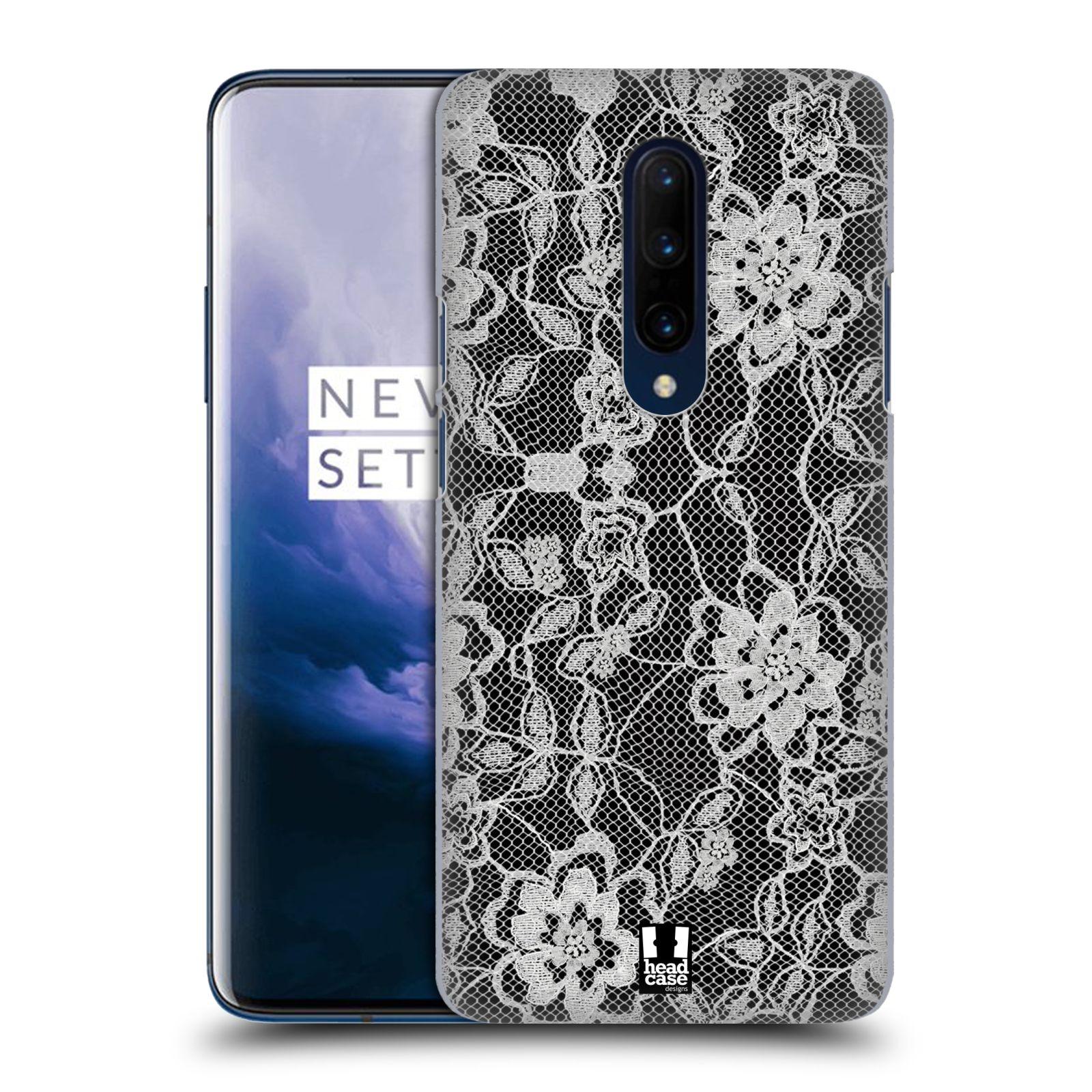 Plastové pouzdro na mobil OnePlus 7 Pro - Head Case - FLOWERY KRAJKA