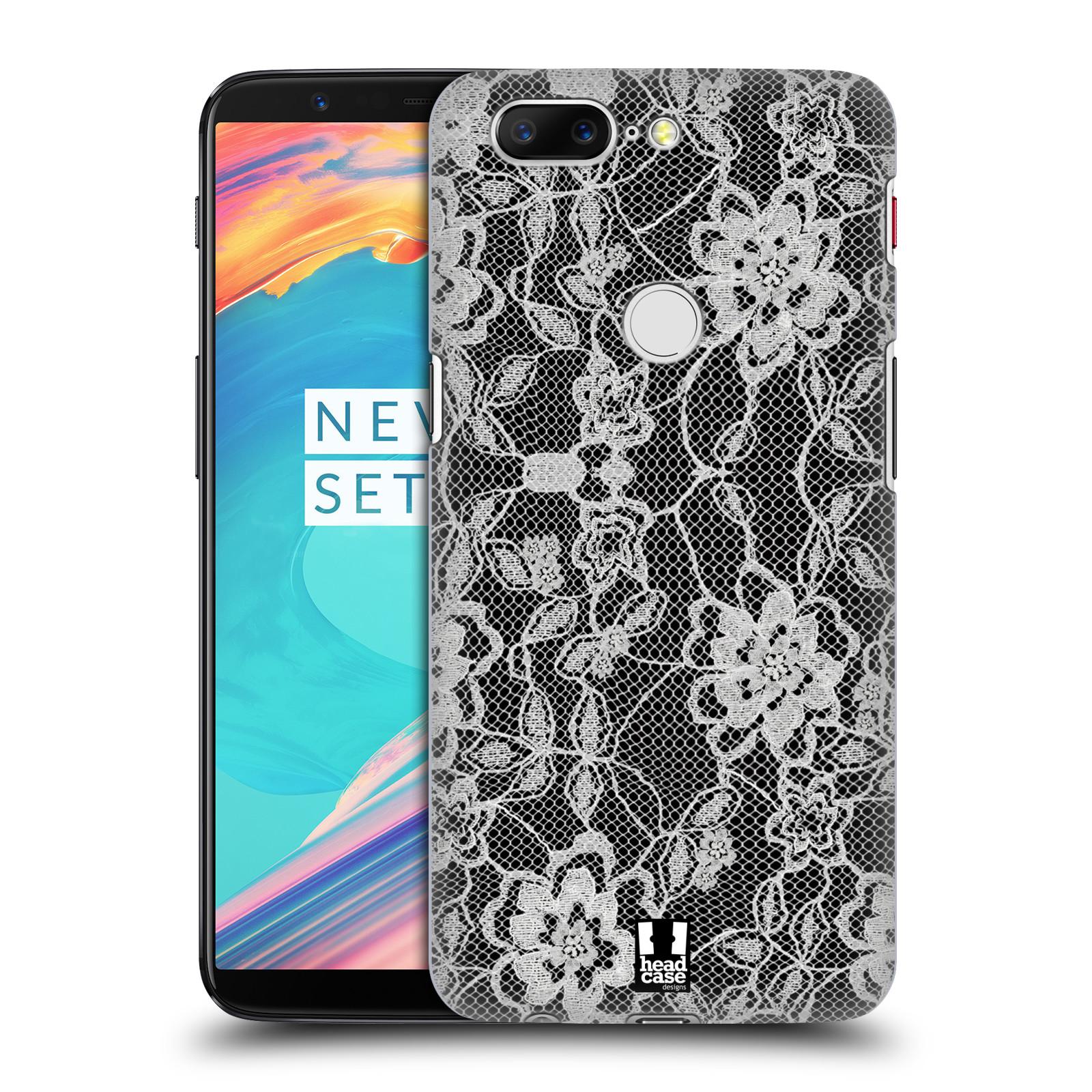 Plastové pouzdro na mobil OnePlus 5T - Head Case - FLOWERY KRAJKA