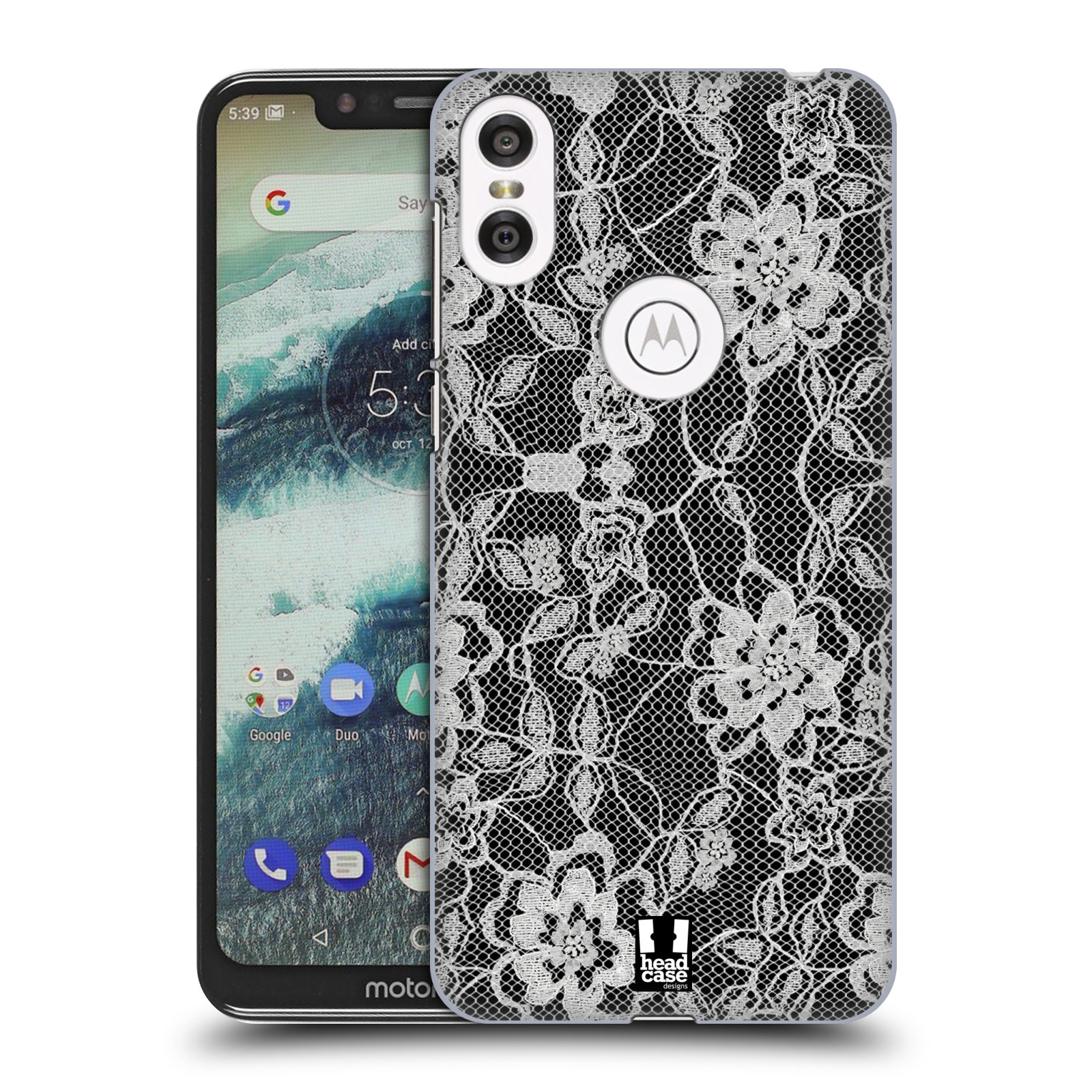 Plastové pouzdro na mobil Motorola One - Head Case - FLOWERY KRAJKA