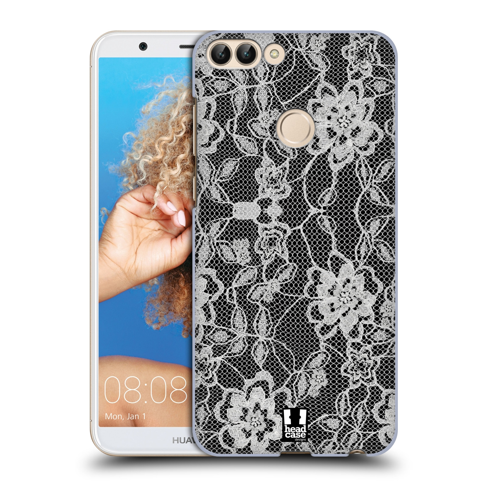 Plastové pouzdro na mobil Huawei P Smart - Head Case - FLOWERY KRAJKA