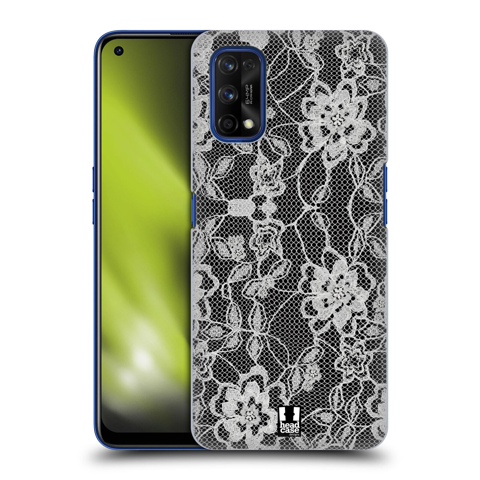Plastové pouzdro na mobil Realme 7 Pro - Head Case - FLOWERY KRAJKA