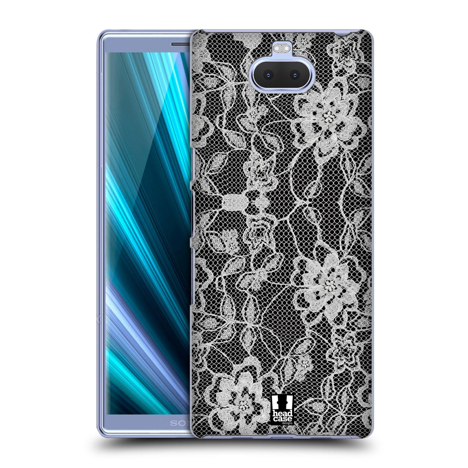Plastové pouzdro na mobil Sony Xperia 10 - Head Case - FLOWERY KRAJKA