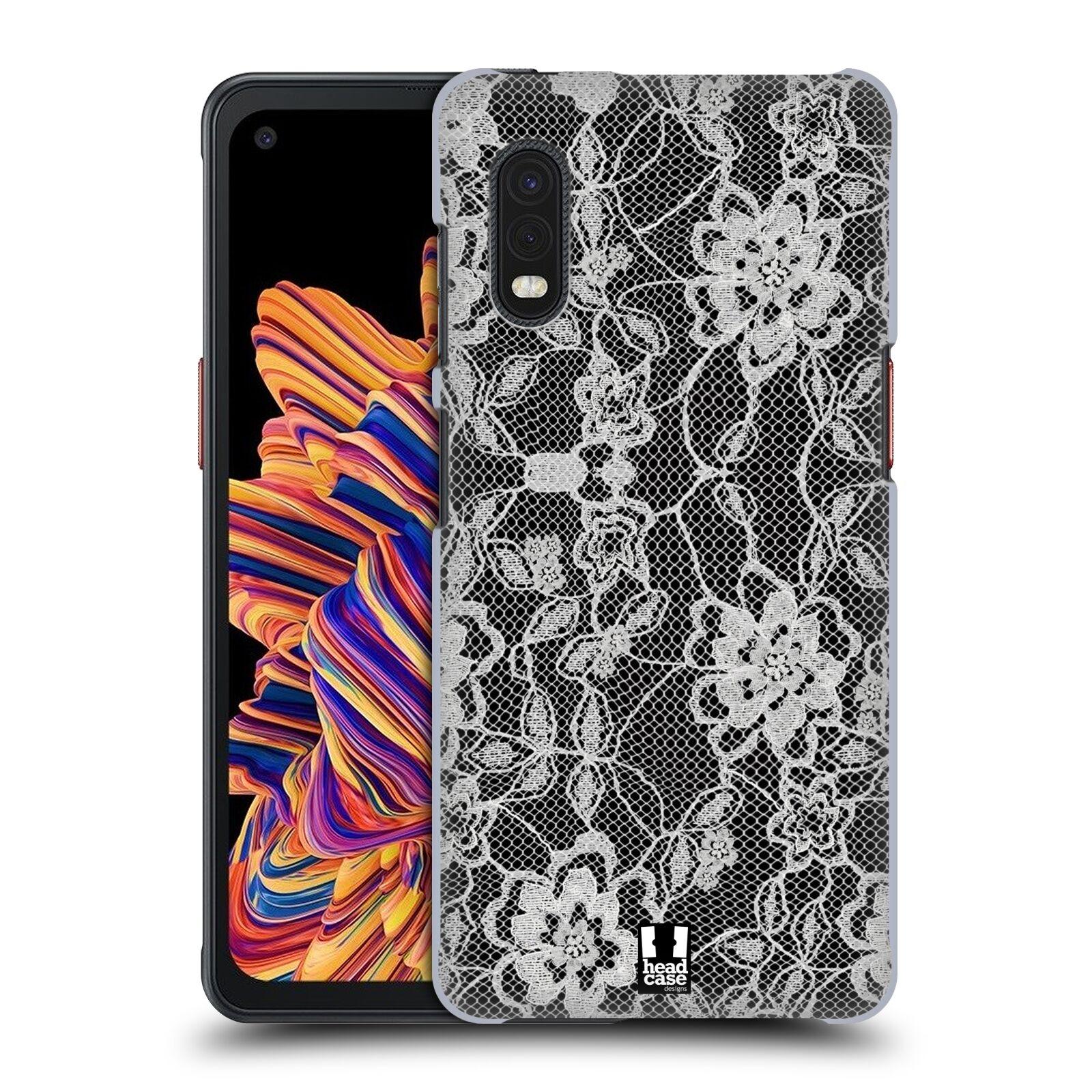 Plastové pouzdro na mobil Samsung Galaxy Xcover Pro - Head Case - FLOWERY KRAJKA