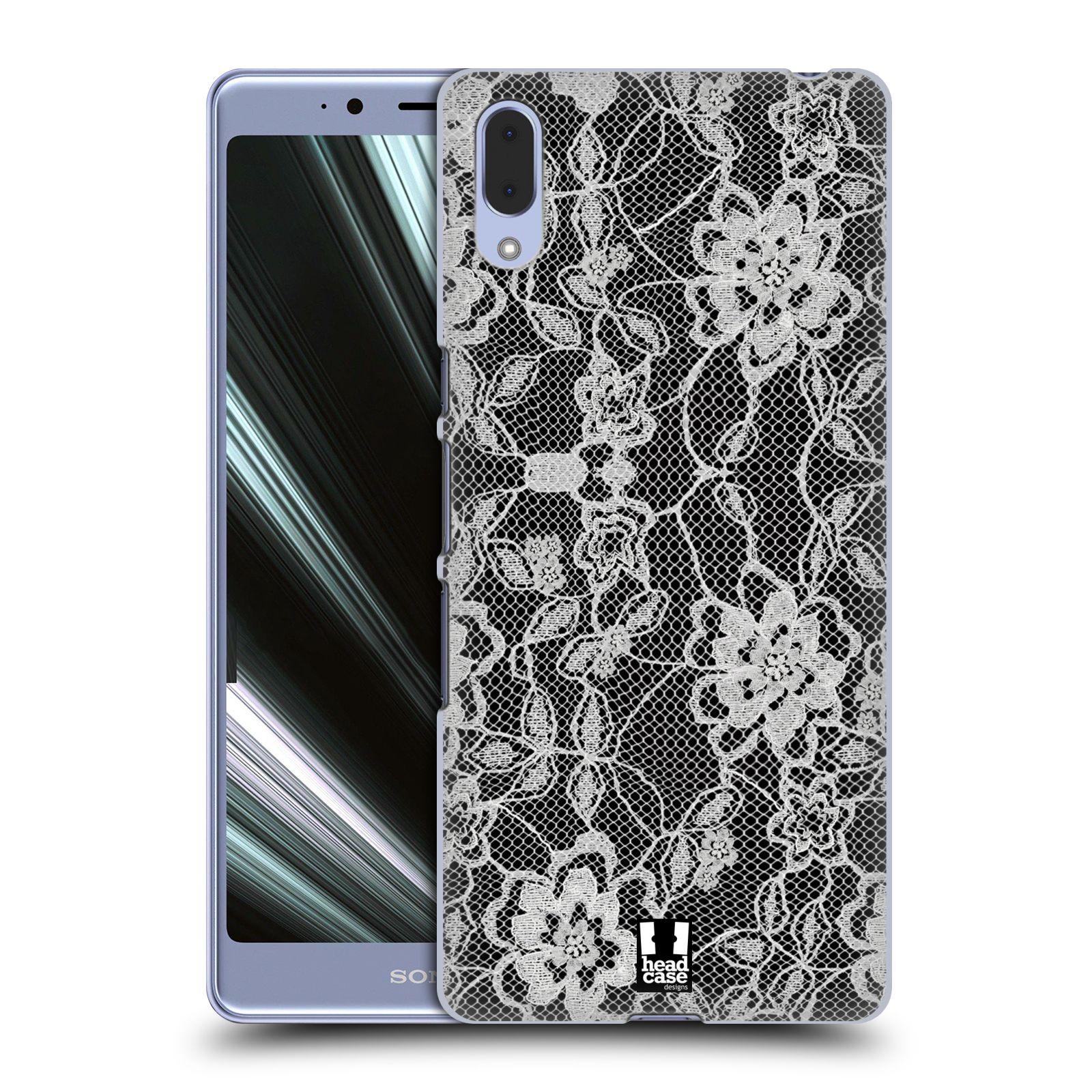 Plastové pouzdro na mobil Sony Xperia L3 - Head Case - FLOWERY KRAJKA