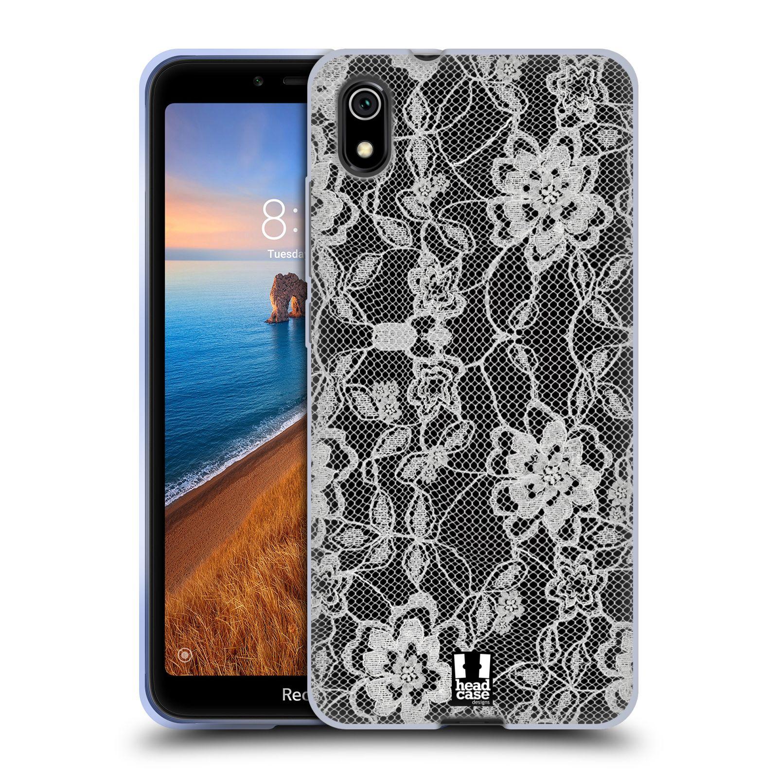 Silikonové pouzdro na mobil Redmi 7A - Head Case - FLOWERY KRAJKA