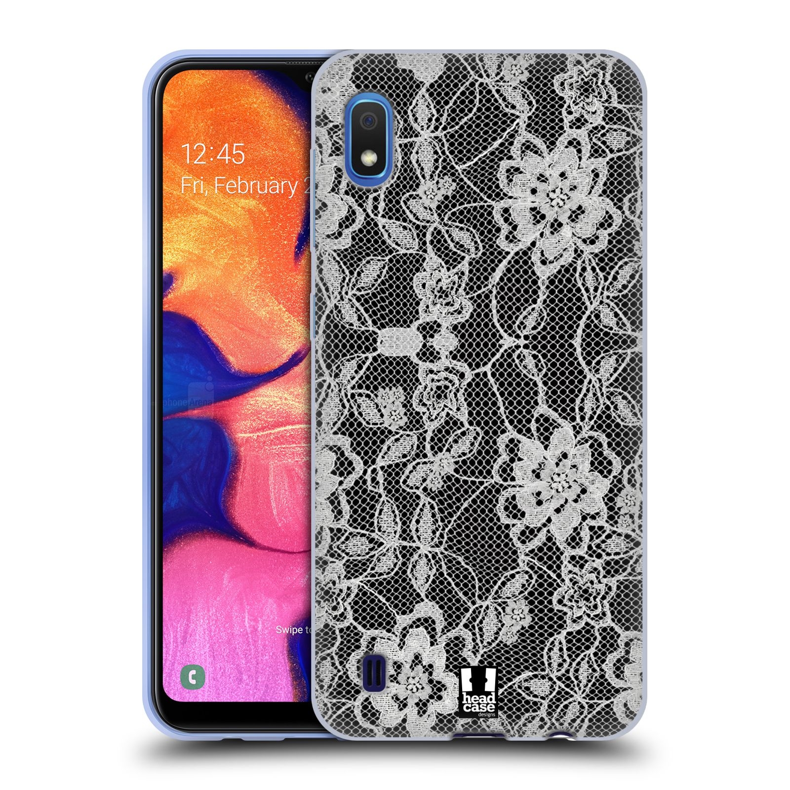 Silikonové pouzdro na mobil Samsung Galaxy A10 - Head Case - FLOWERY KRAJKA