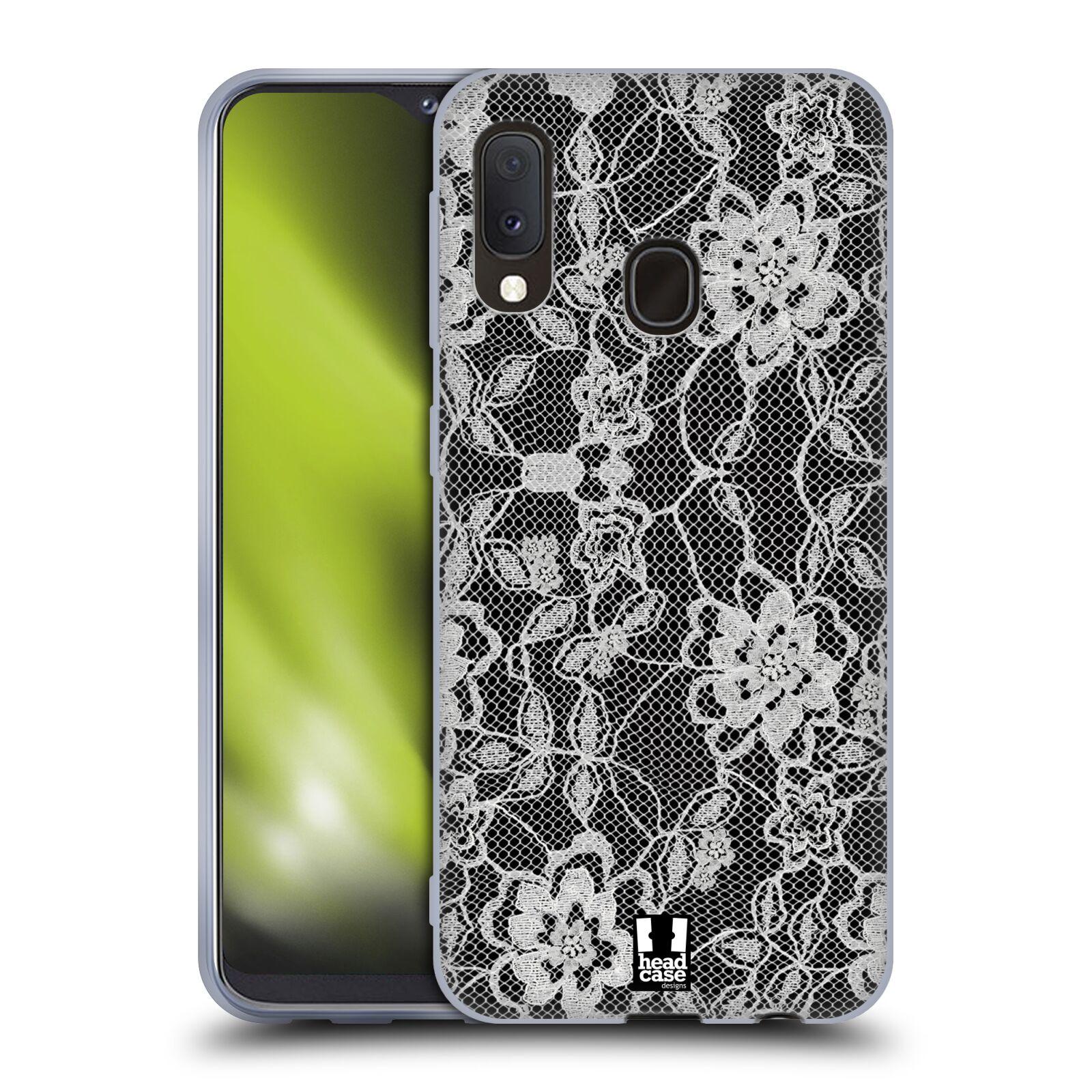 Silikonové pouzdro na mobil Samsung Galaxy A20e - Head Case - FLOWERY KRAJKA