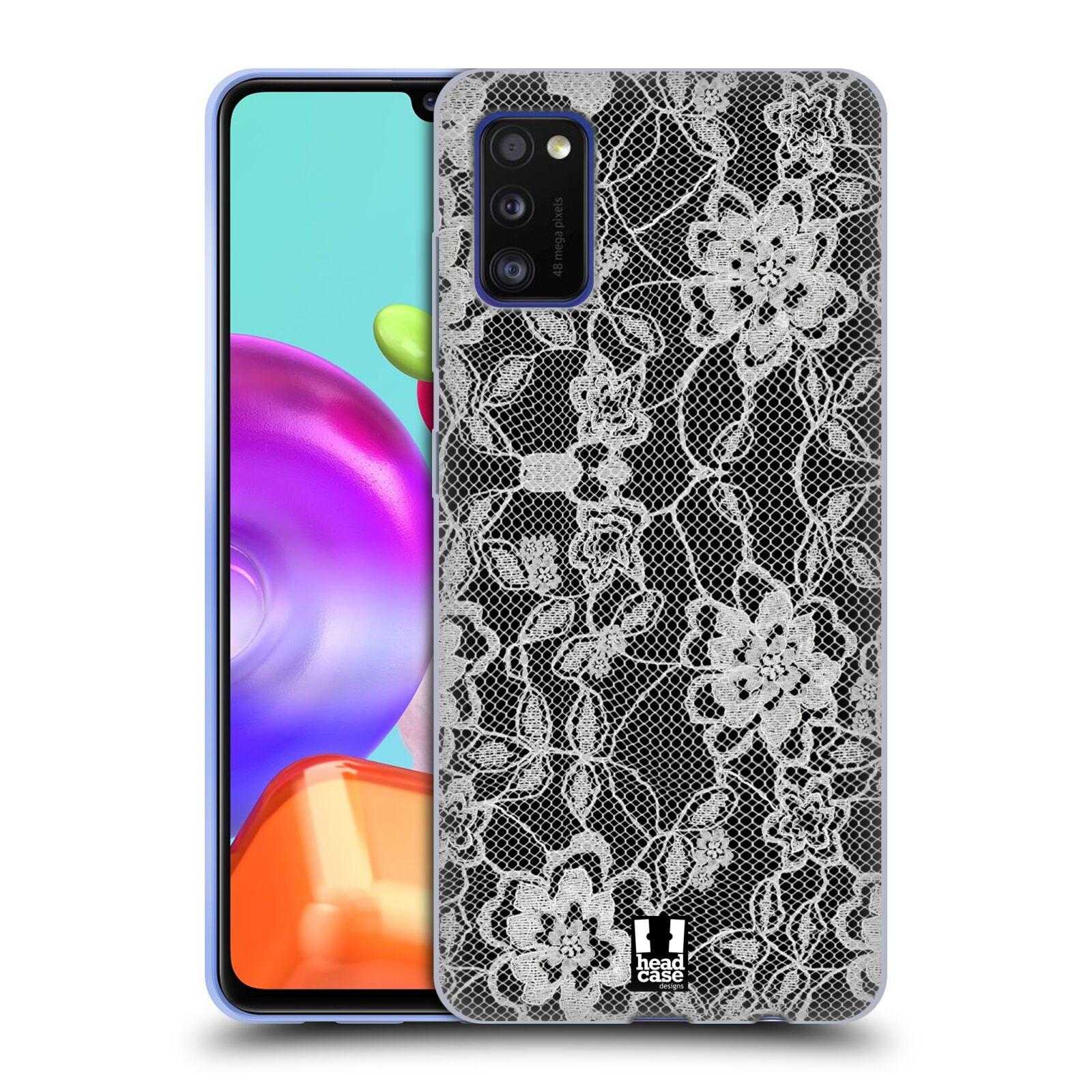 Silikonové pouzdro na mobil Samsung Galaxy A41 - Head Case - FLOWERY KRAJKA