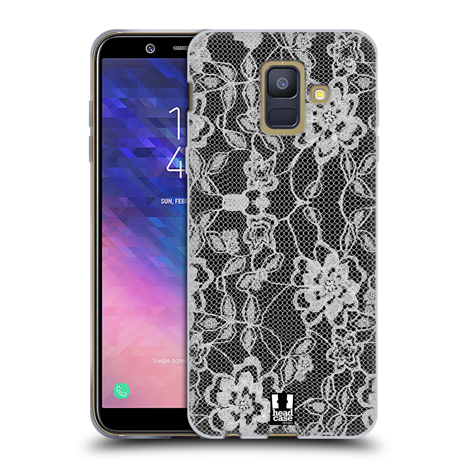 Silikonové pouzdro na mobil Samsung Galaxy A6 (2018) - Head Case - FLOWERY KRAJKA