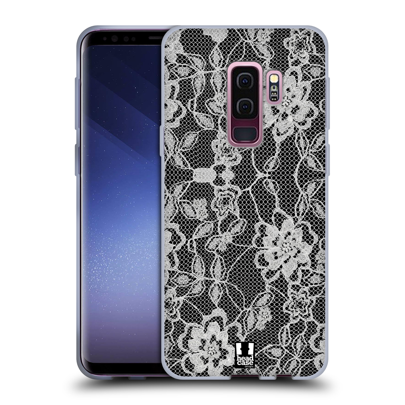 Silikonové pouzdro na mobil Samsung Galaxy S9 Plus - Head Case - FLOWERY KRAJKA