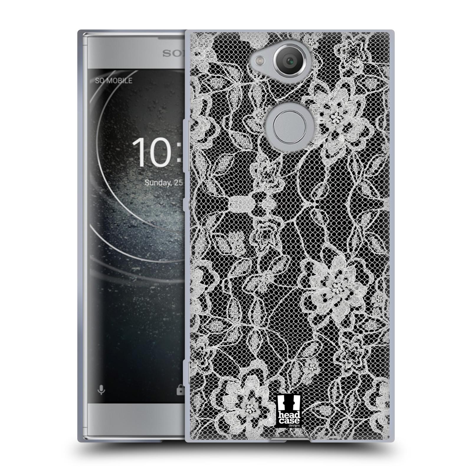 Silikonové pouzdro na mobil Sony Xperia XA2 - Head Case - FLOWERY KRAJKA
