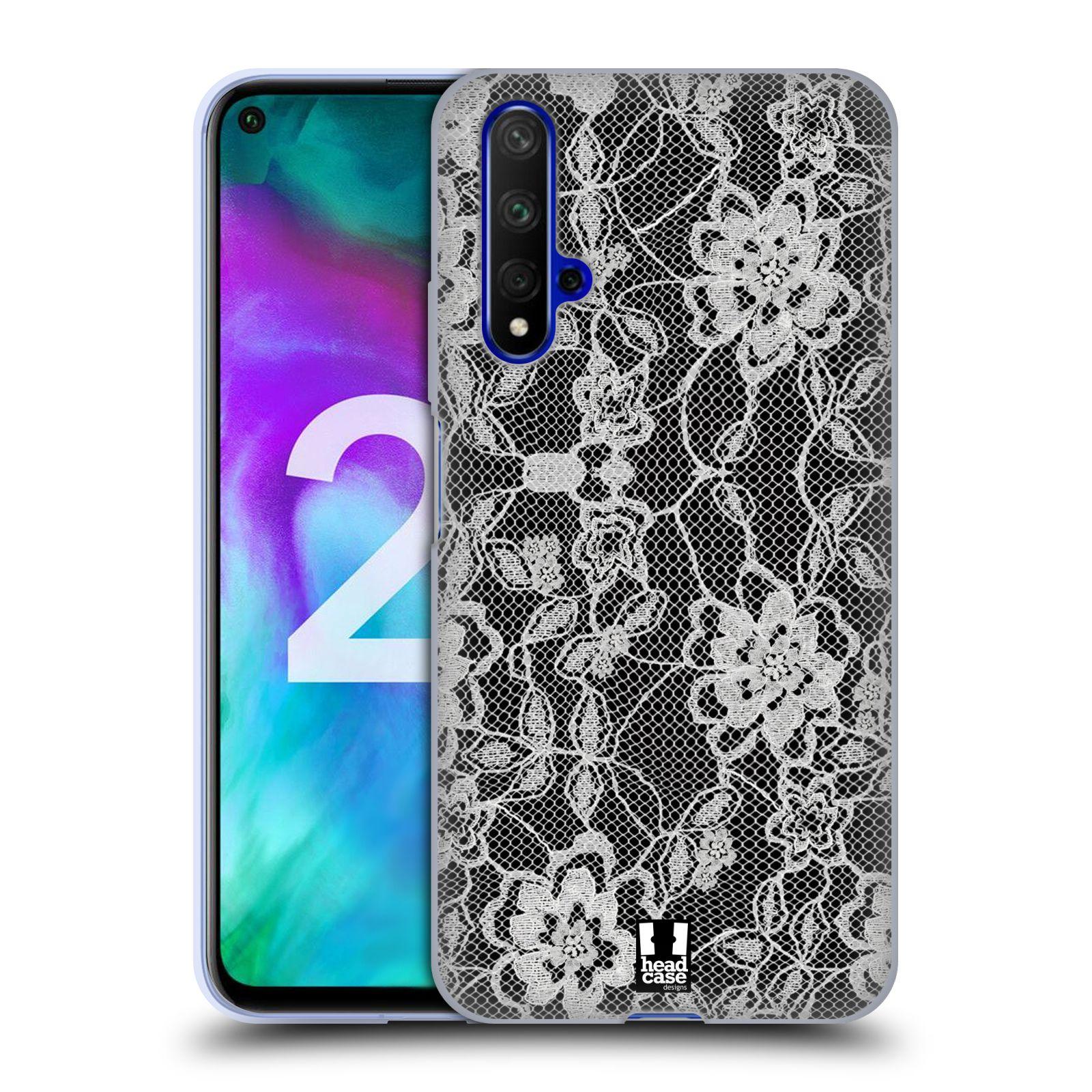 Silikonové pouzdro na mobil Honor 20 - Head Case - FLOWERY KRAJKA