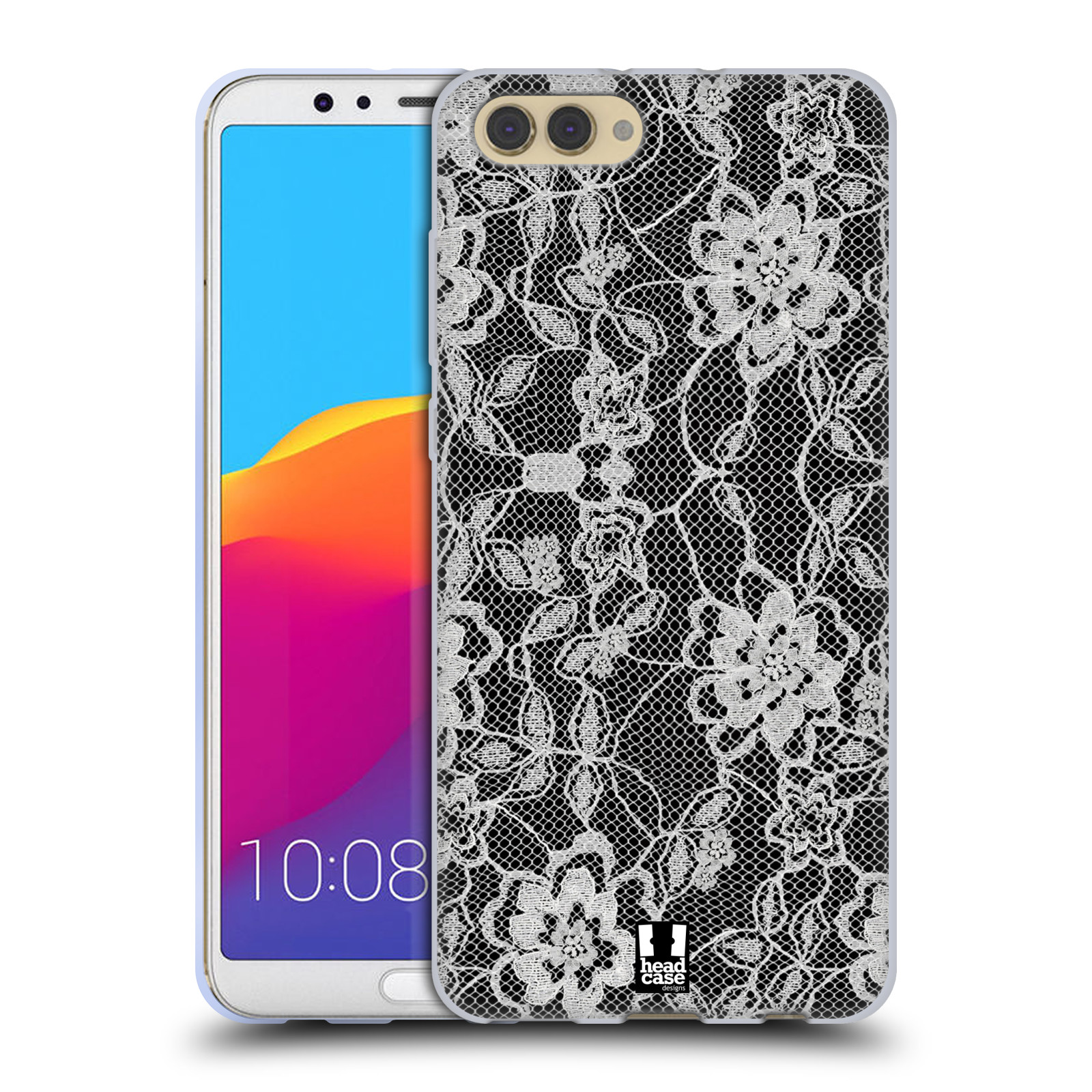 Silikonové pouzdro na mobil Honor View 10 - Head Case - FLOWERY KRAJKA