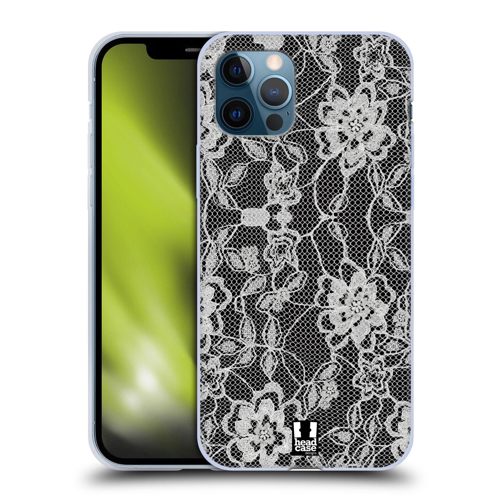 Silikonové pouzdro na mobil Apple iPhone 12 / 12 Pro - Head Case - FLOWERY KRAJKA
